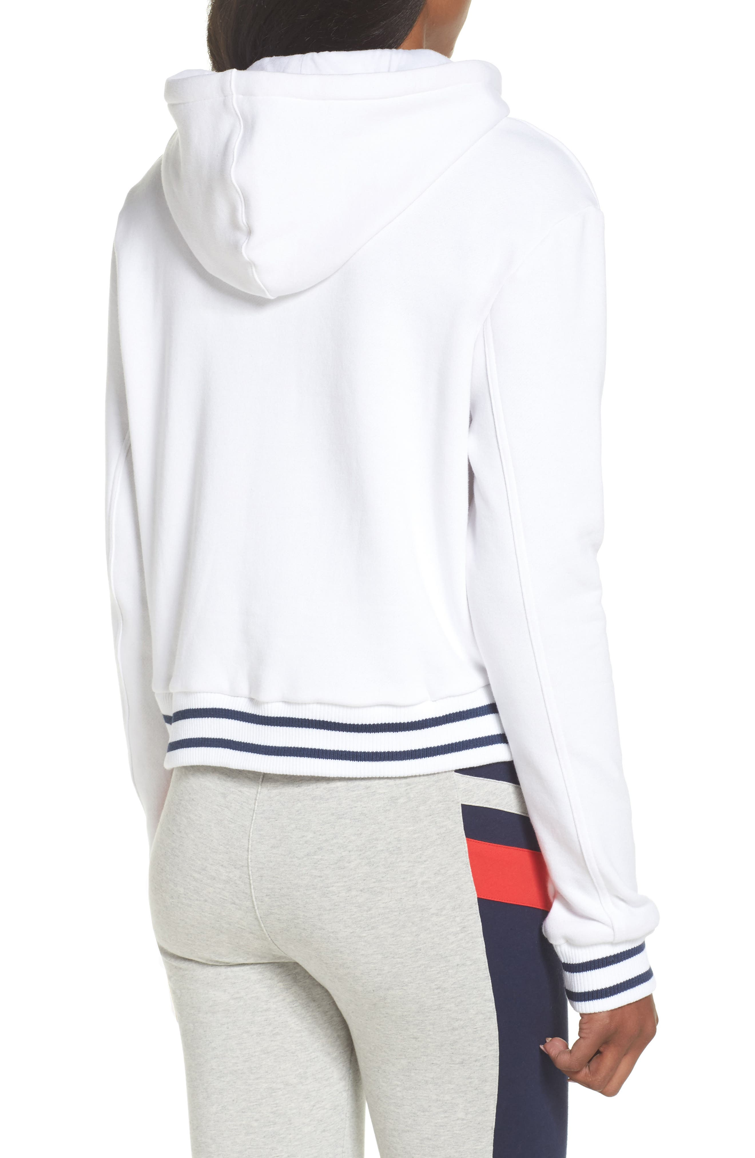 Rosemary Hoodie,                             Alternate thumbnail 2, color,                             White/ Peacoat/ Chinese Red