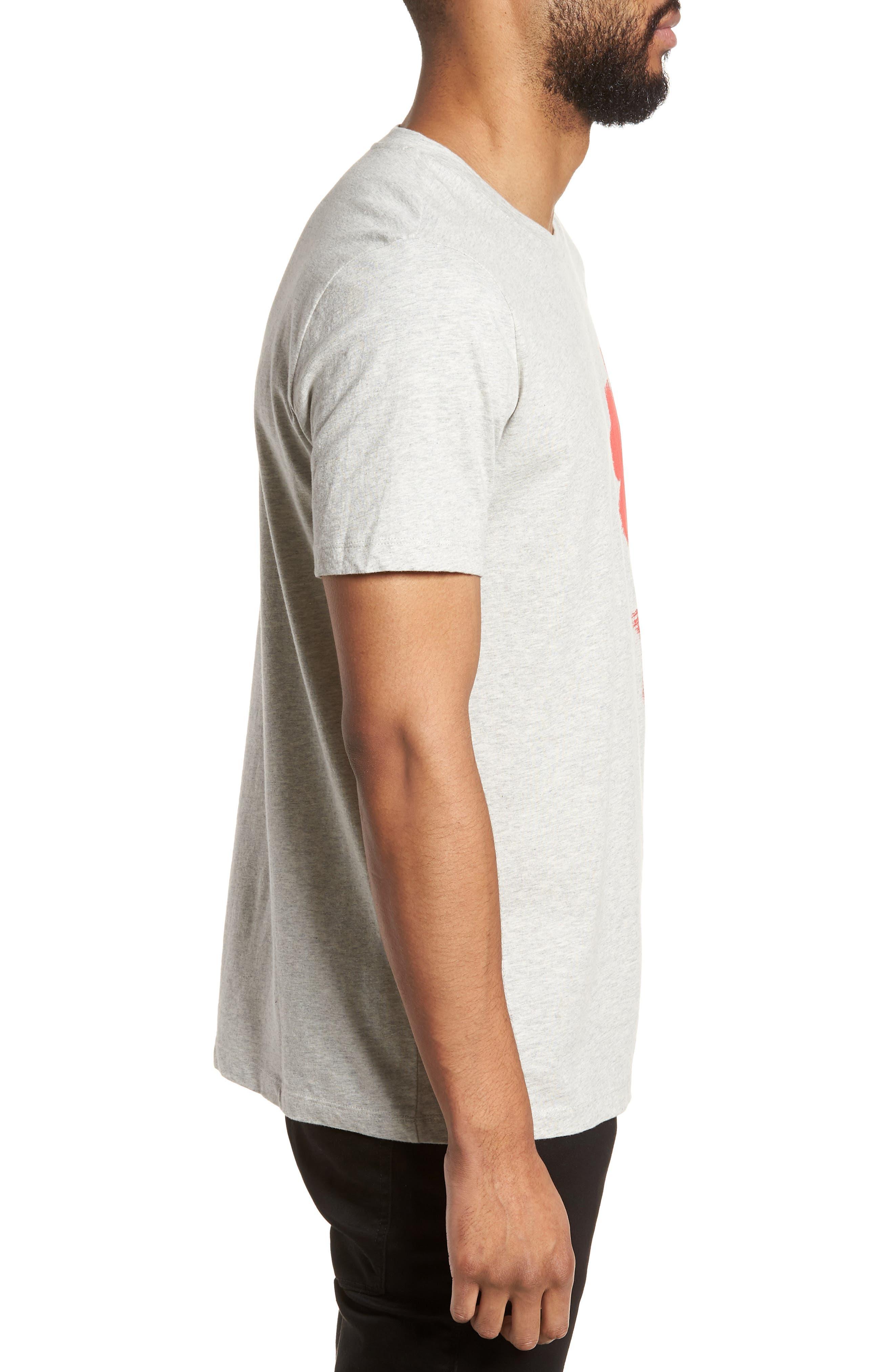 Drush Slim Fit Graphic T-Shirt,                             Alternate thumbnail 3, color,                             Grey