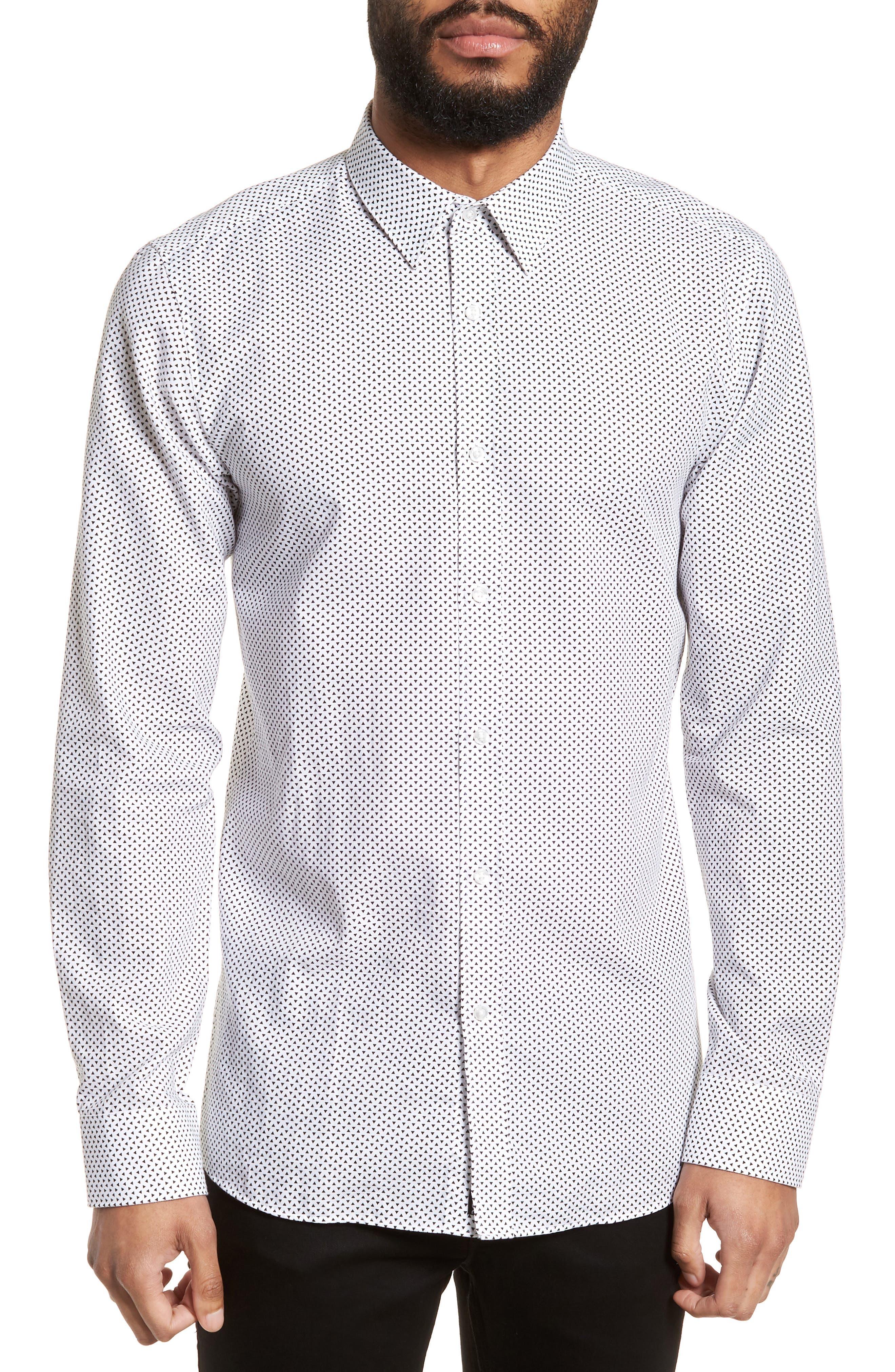 Hugo Boss Elisha Triangle Print Sport Shirt