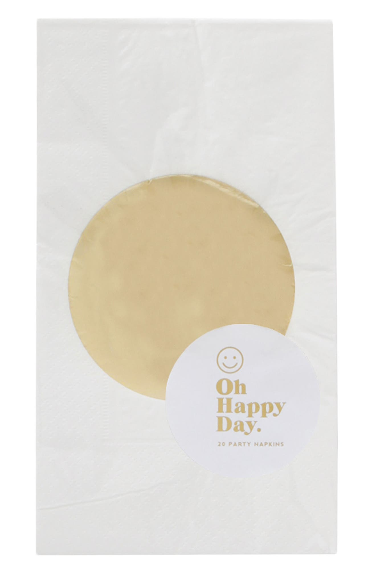 Oh Happy Day Gold Dot Paper Dinner Napkins