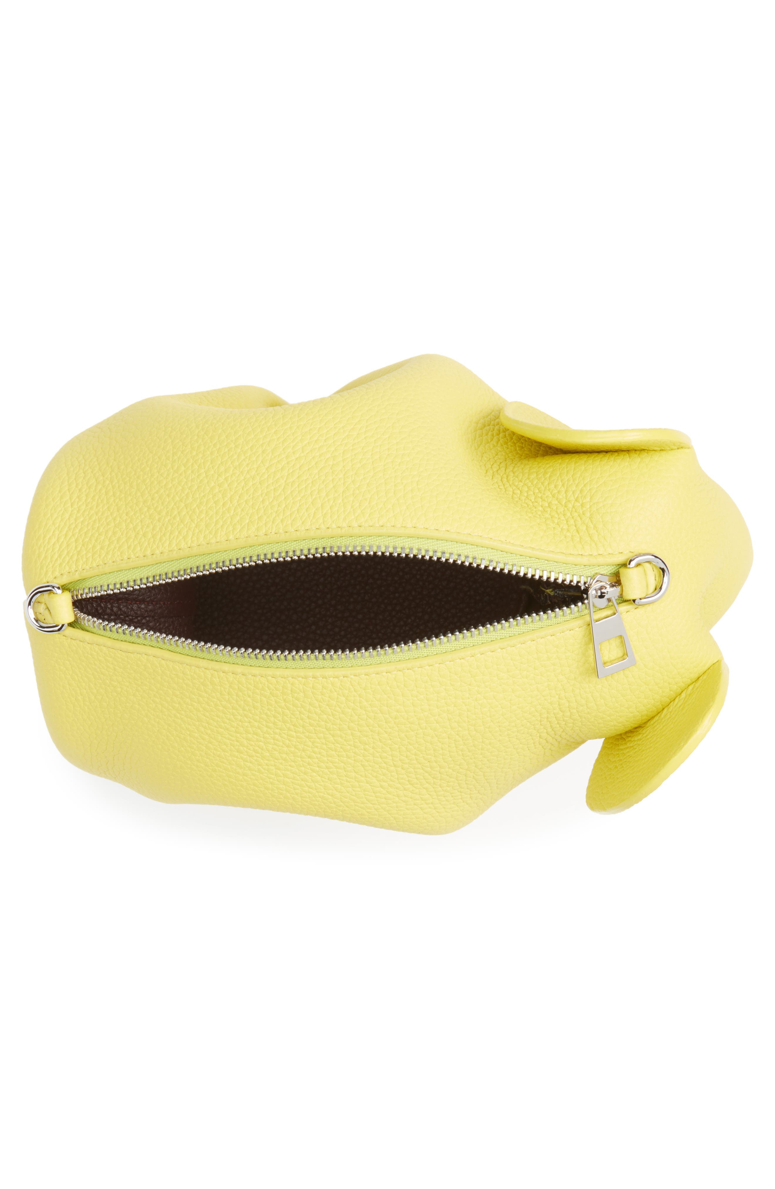 Mini Elephant Calfskin Crossbody Bag,                             Alternate thumbnail 4, color,                             Yellow Lemon