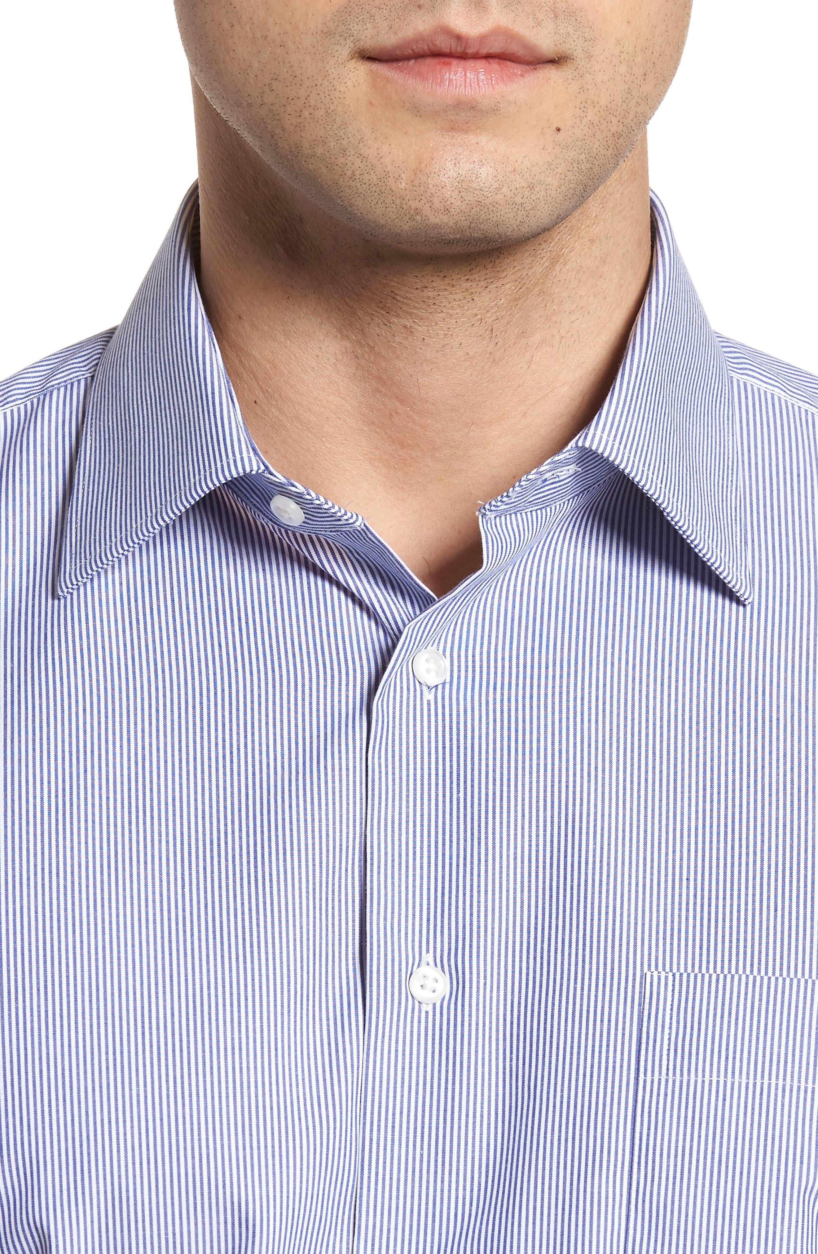 Classic Fit Non-Iron Stripe Dress Shirt,                             Alternate thumbnail 2, color,                             Navy Dusk