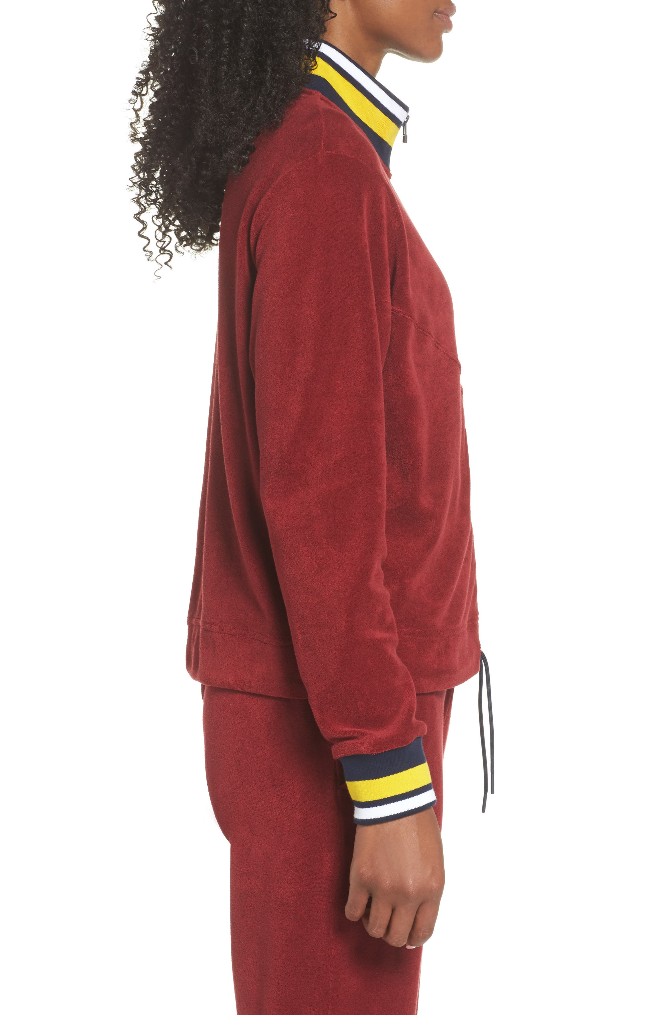 Sportswear French Terry Jacket,                             Alternate thumbnail 3, color,                             Team Red/ Team Red/ Obsidian