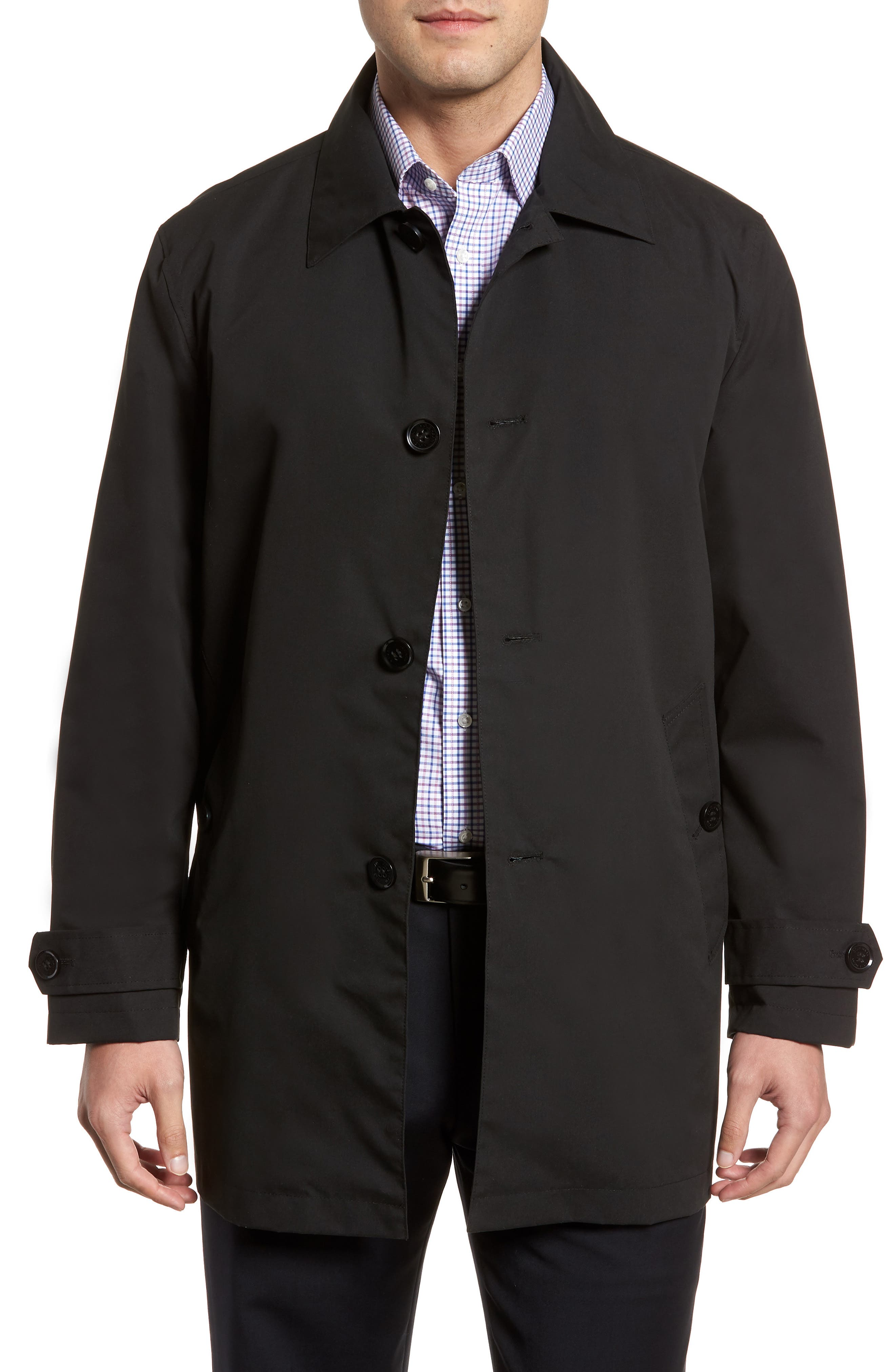 Raincoat,                             Main thumbnail 1, color,                             Black