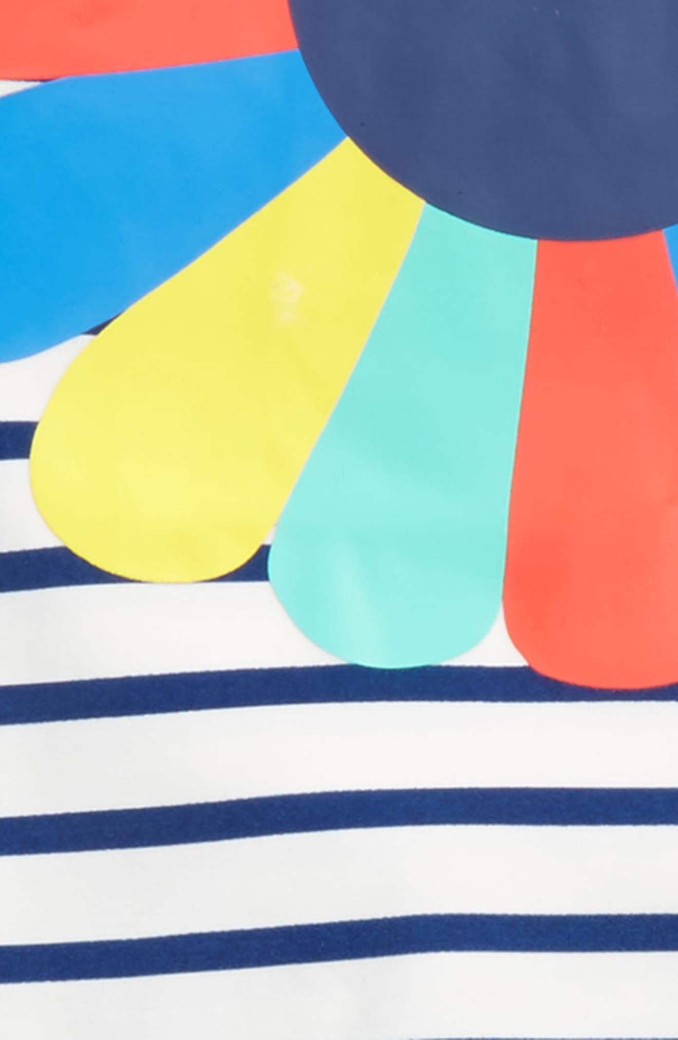 Sea Explorer Two-Piece Rashguard Swimsuit,                             Alternate thumbnail 2, color,                             Ivory/ Deep Sea Blue/ Flower