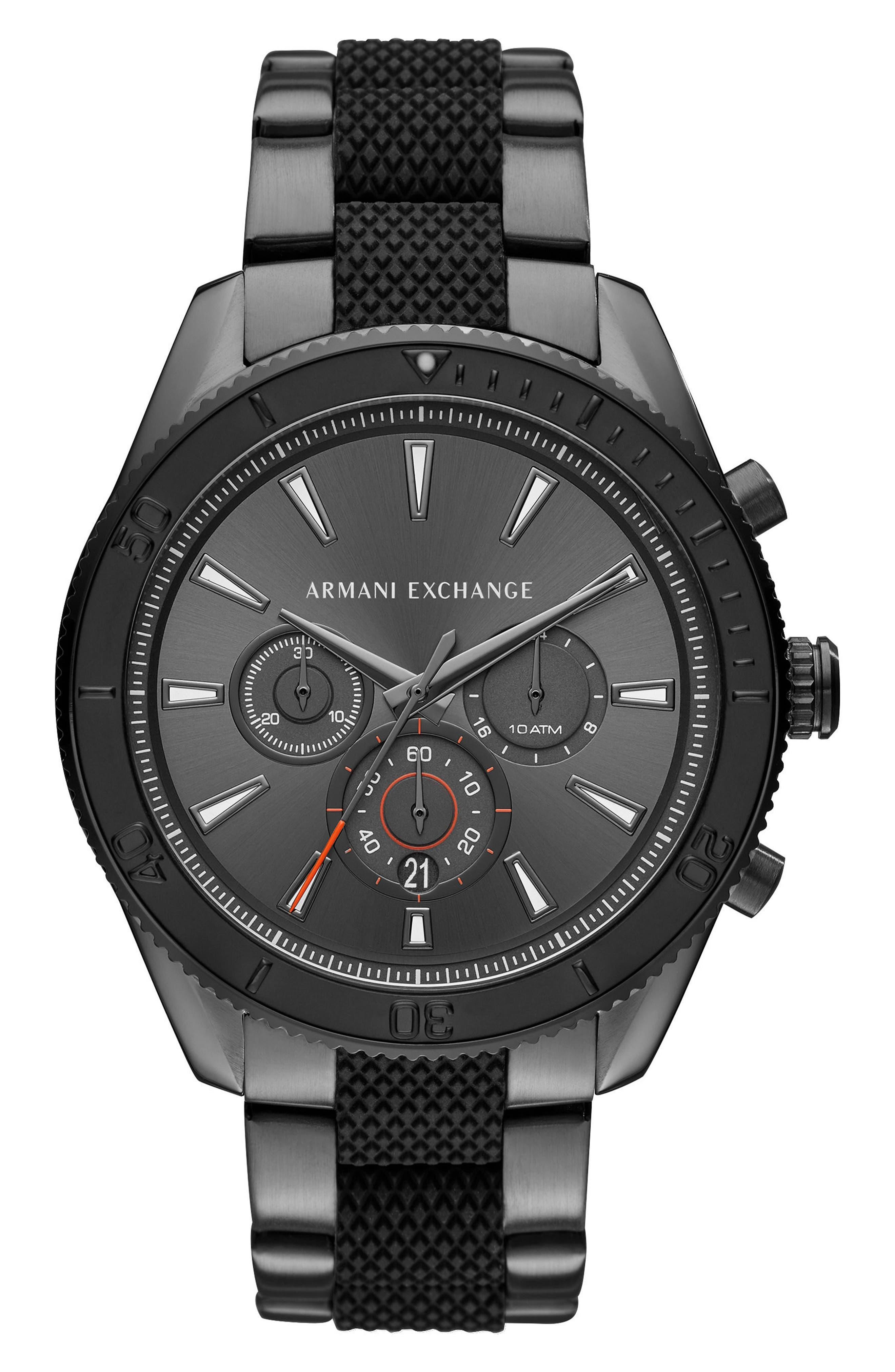 Main Image - AX Armani Exchange Chronograph Bracelet Watch, 46mm