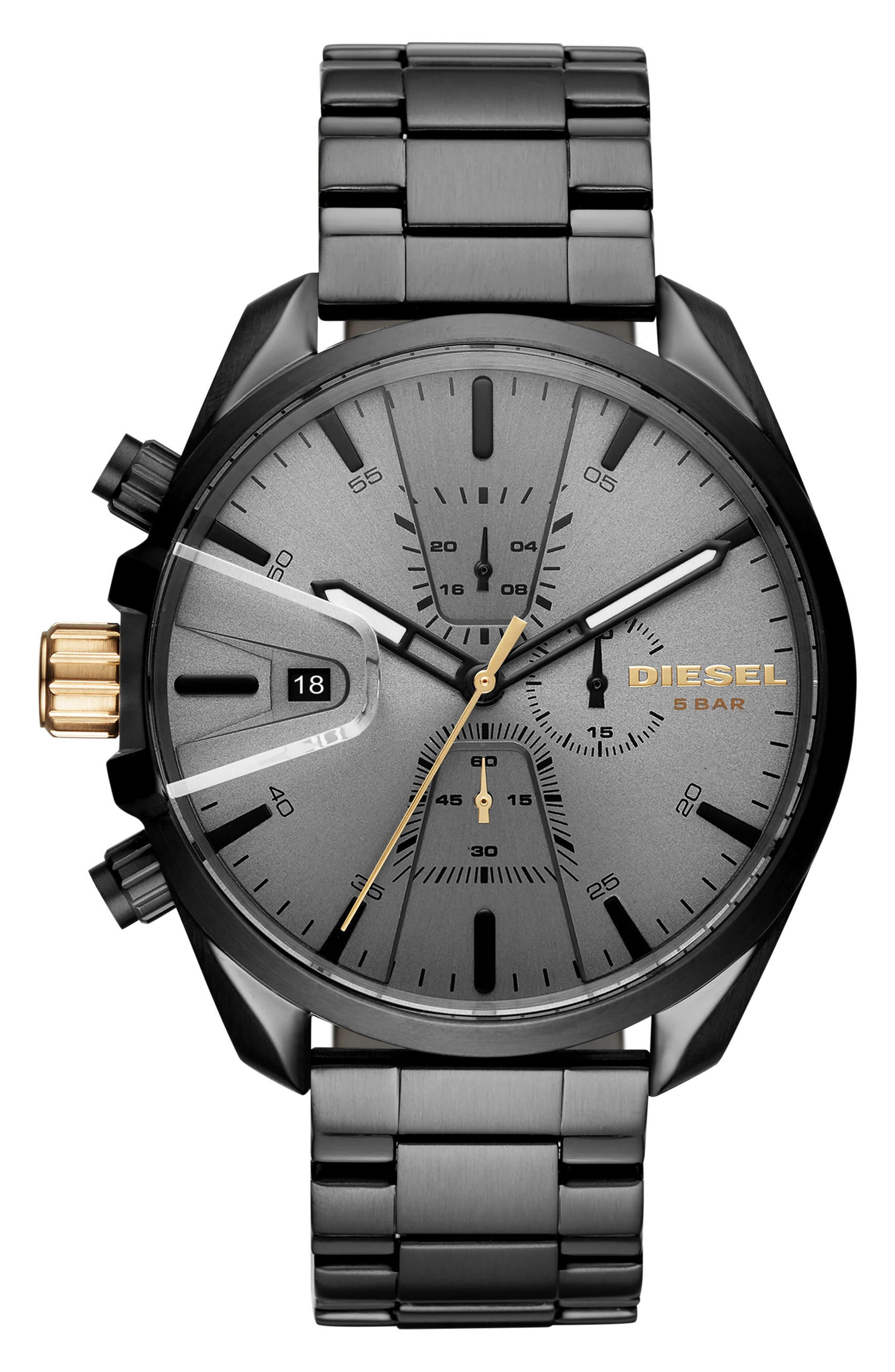 Alternate Image 1 Selected - DIESEL® MS9 Chronograph Bracelet Watch, 47mm