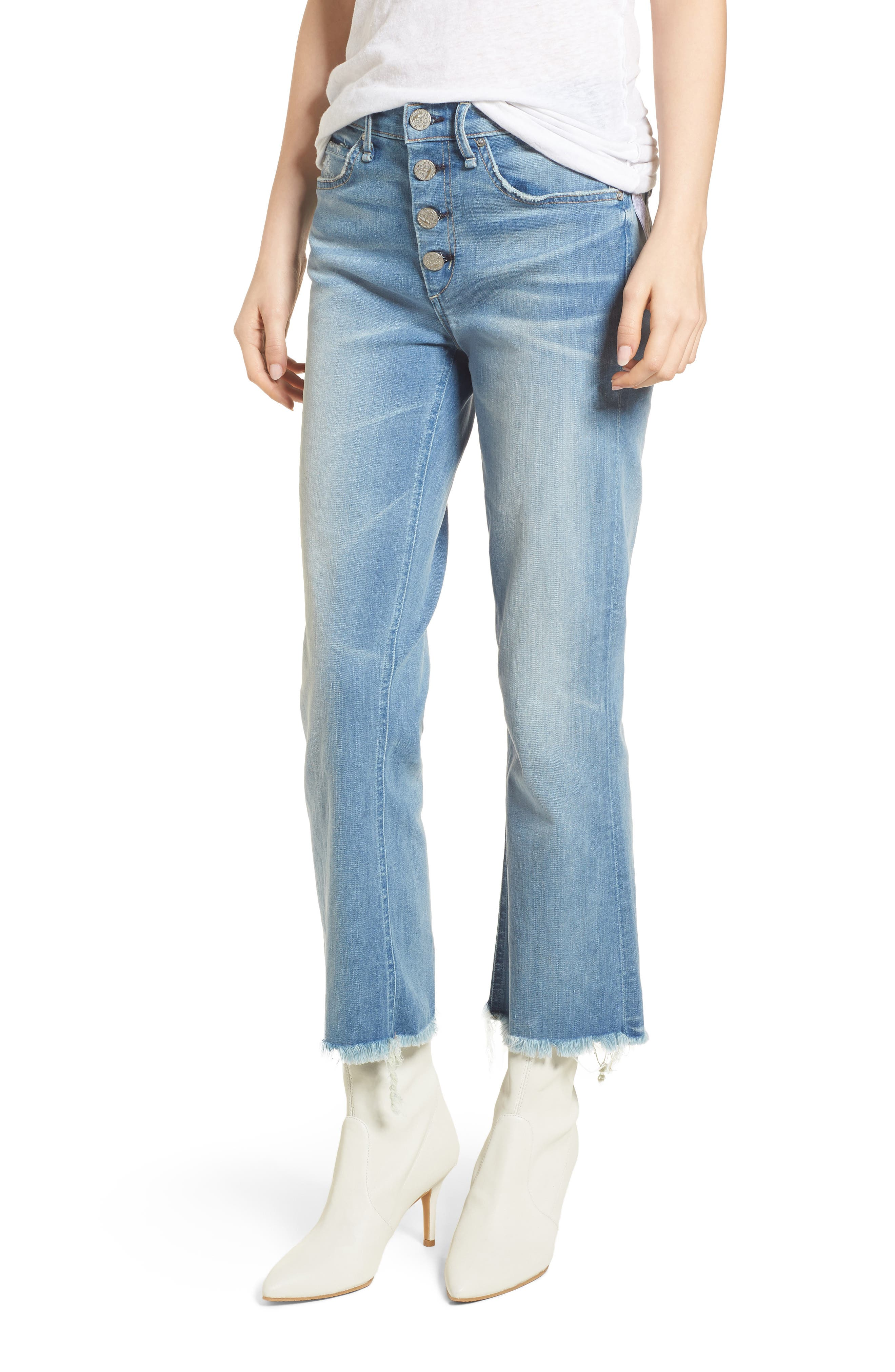 McGuire Gainsbourg Crop Bootcut Jeans (Super Bleached)