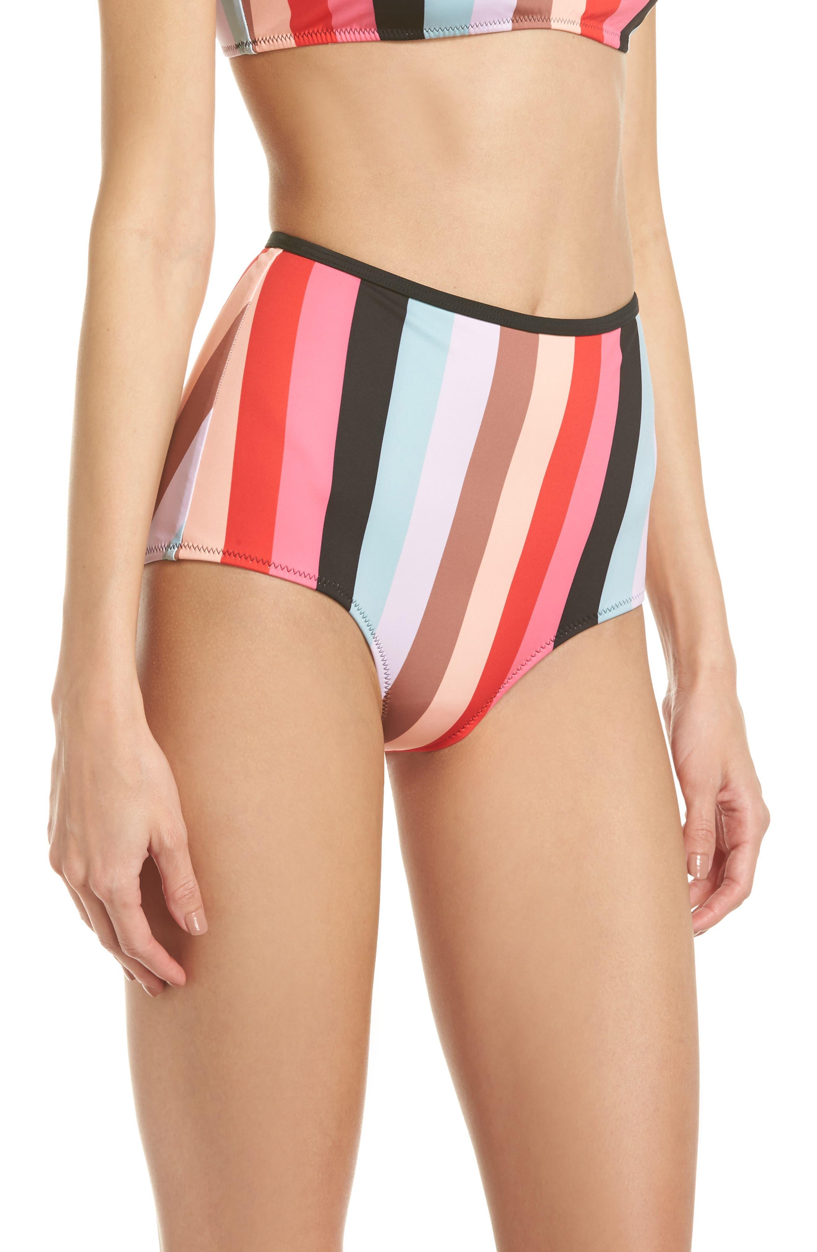 The Brigitte Bikini Bottoms,                             Alternate thumbnail 3, color,                             Red Multi