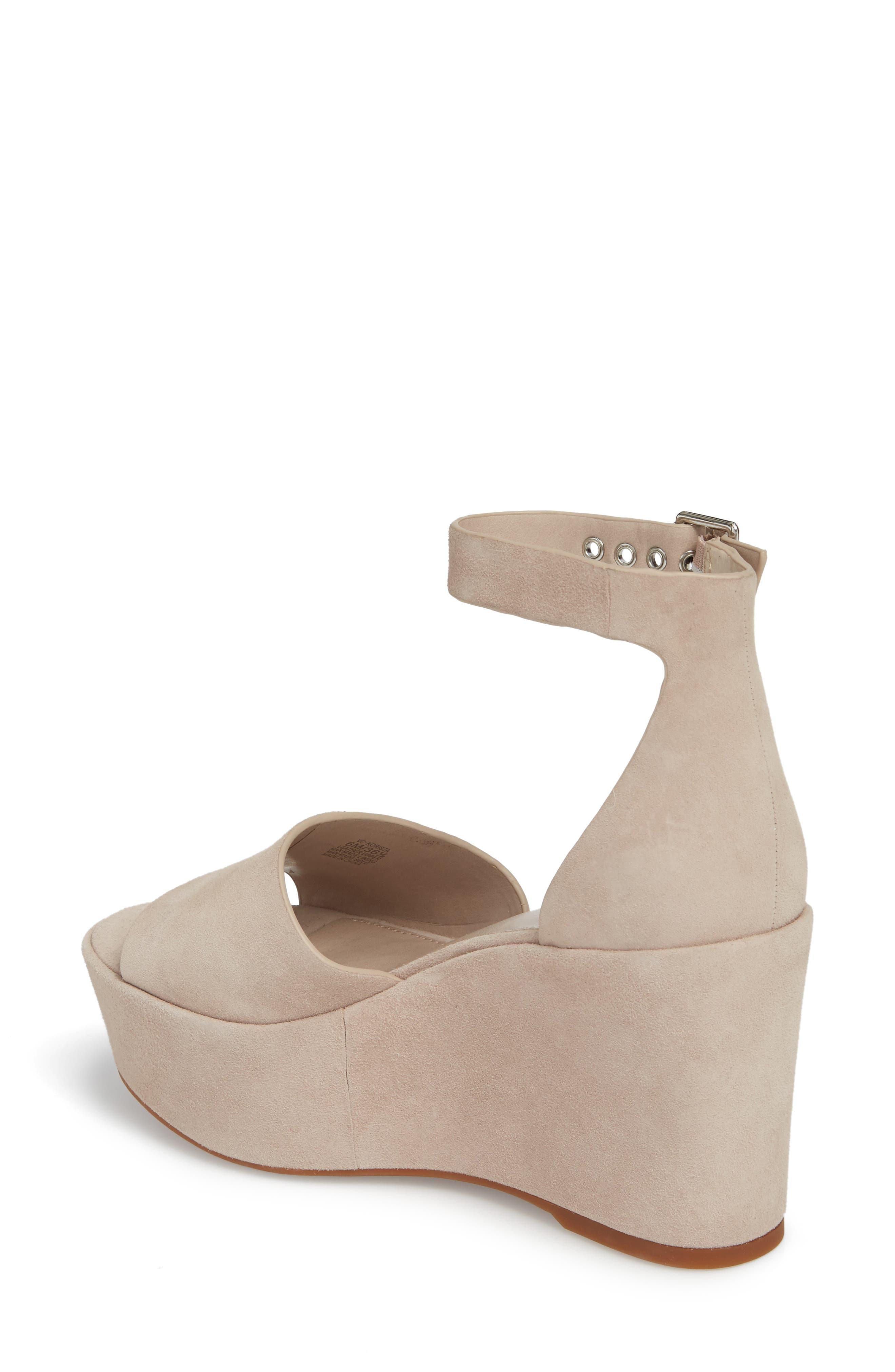 Korista Platform Sandal,                             Alternate thumbnail 2, color,                             Tipsy Taupe Suede