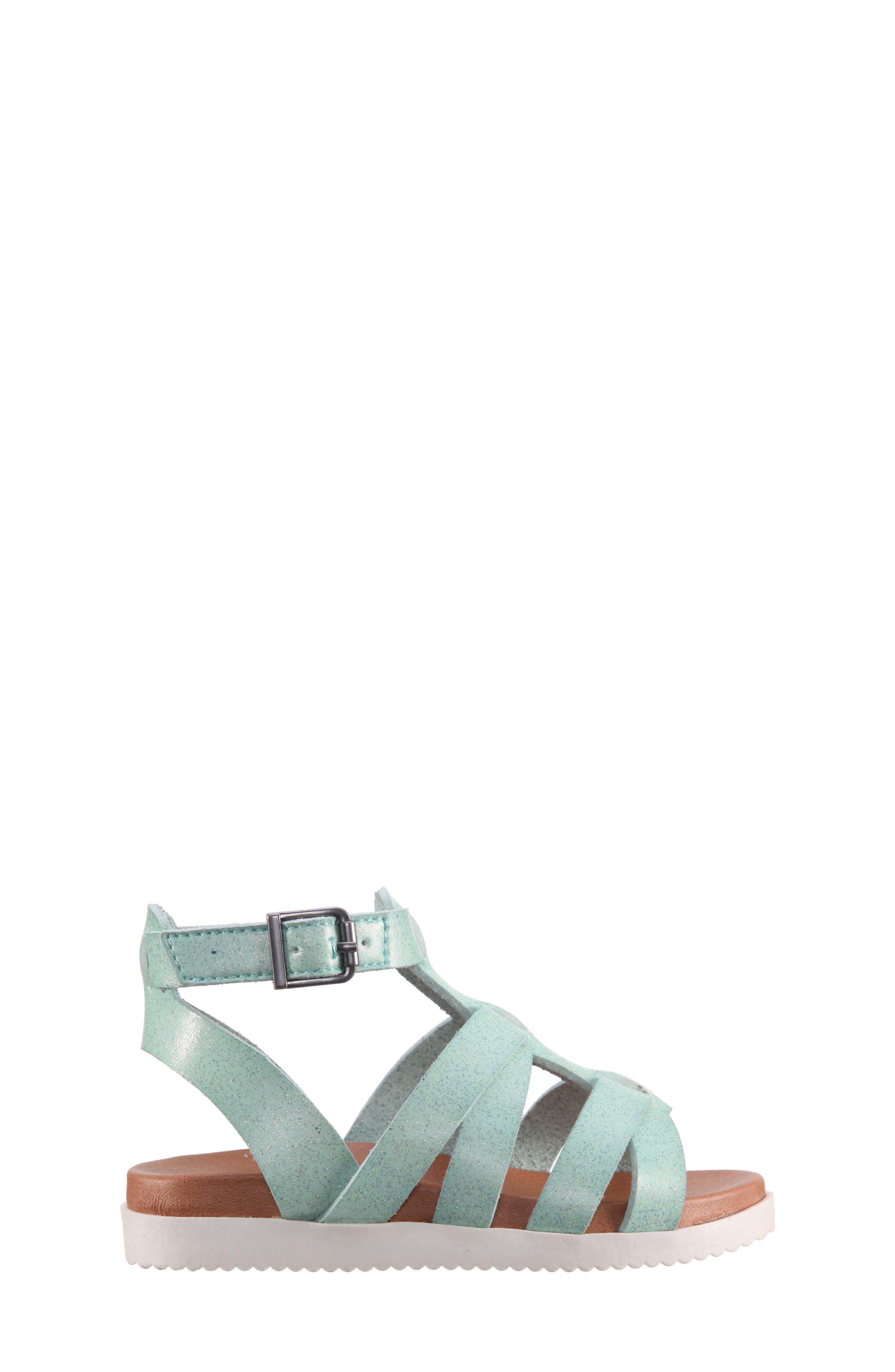 Alpha Gladiator Sandal,                             Alternate thumbnail 3, color,                             Mint Dip Dye