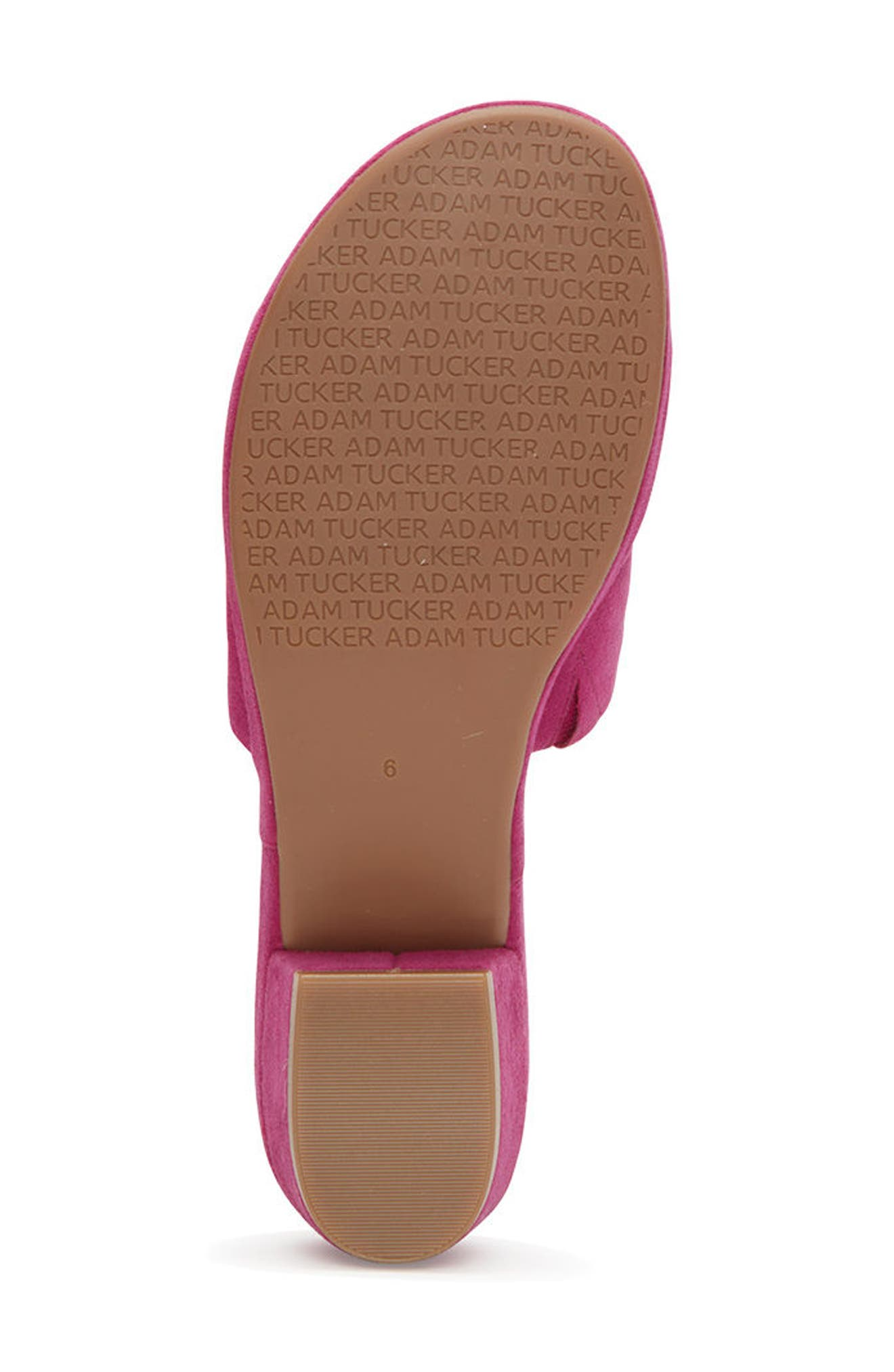 Adam Tucker Yolo Sandal,                             Alternate thumbnail 5, color,                             Fuchsia Suede