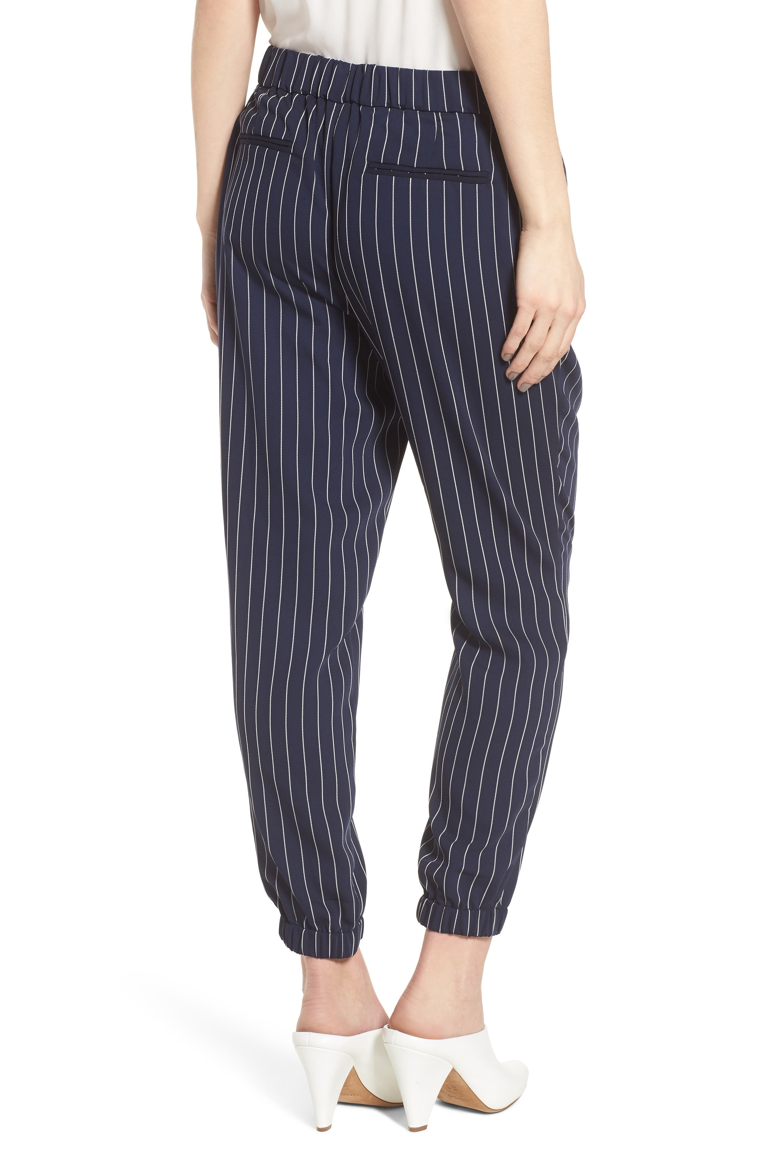 Stripe Jogger Pants,                             Alternate thumbnail 2, color,                             Navy- Ivory Emma Stripe