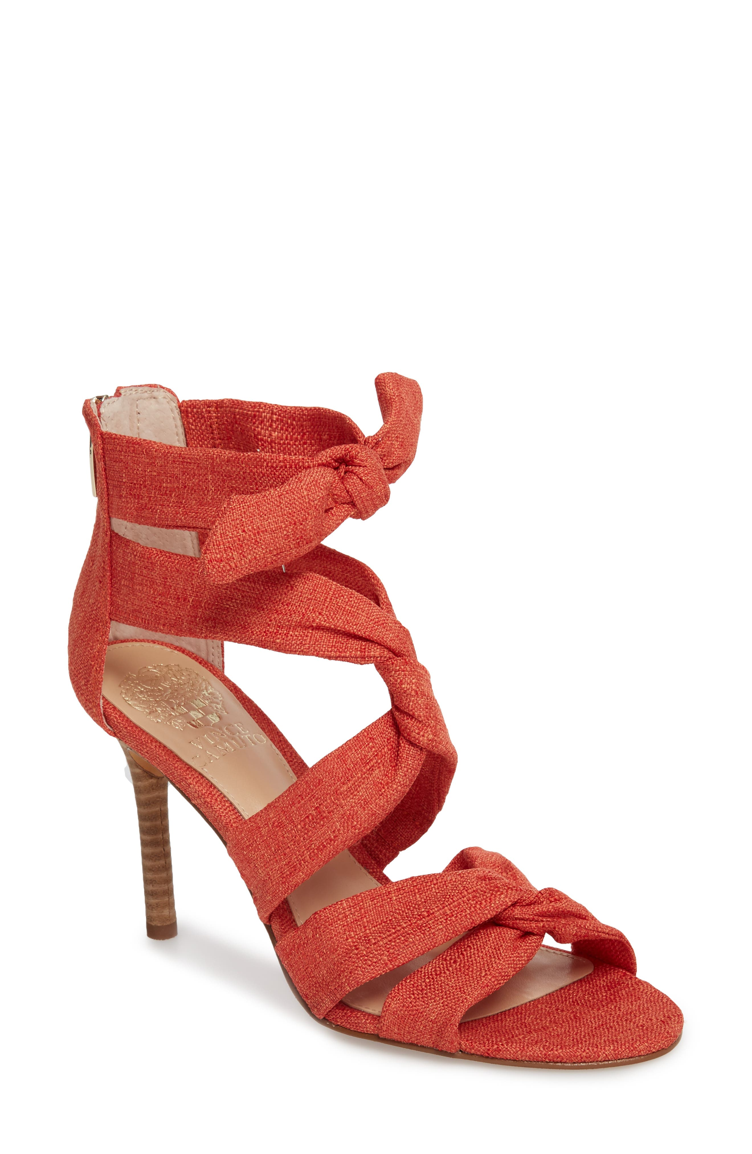 Chania Sandal,                         Main,                         color, Sunset Orange