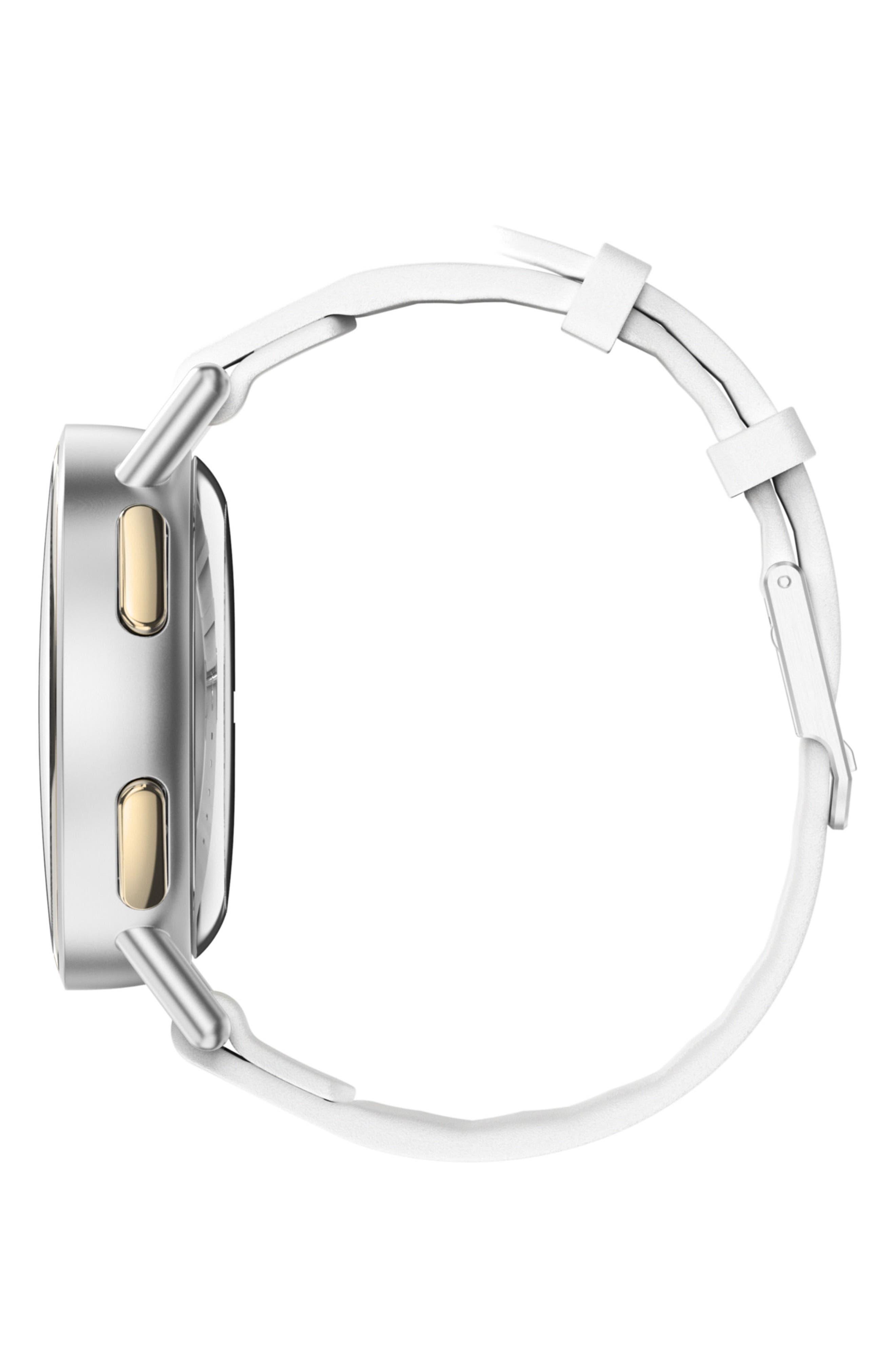 Path Strap Smartwatch, 36mm,                             Alternate thumbnail 3, color,                             White