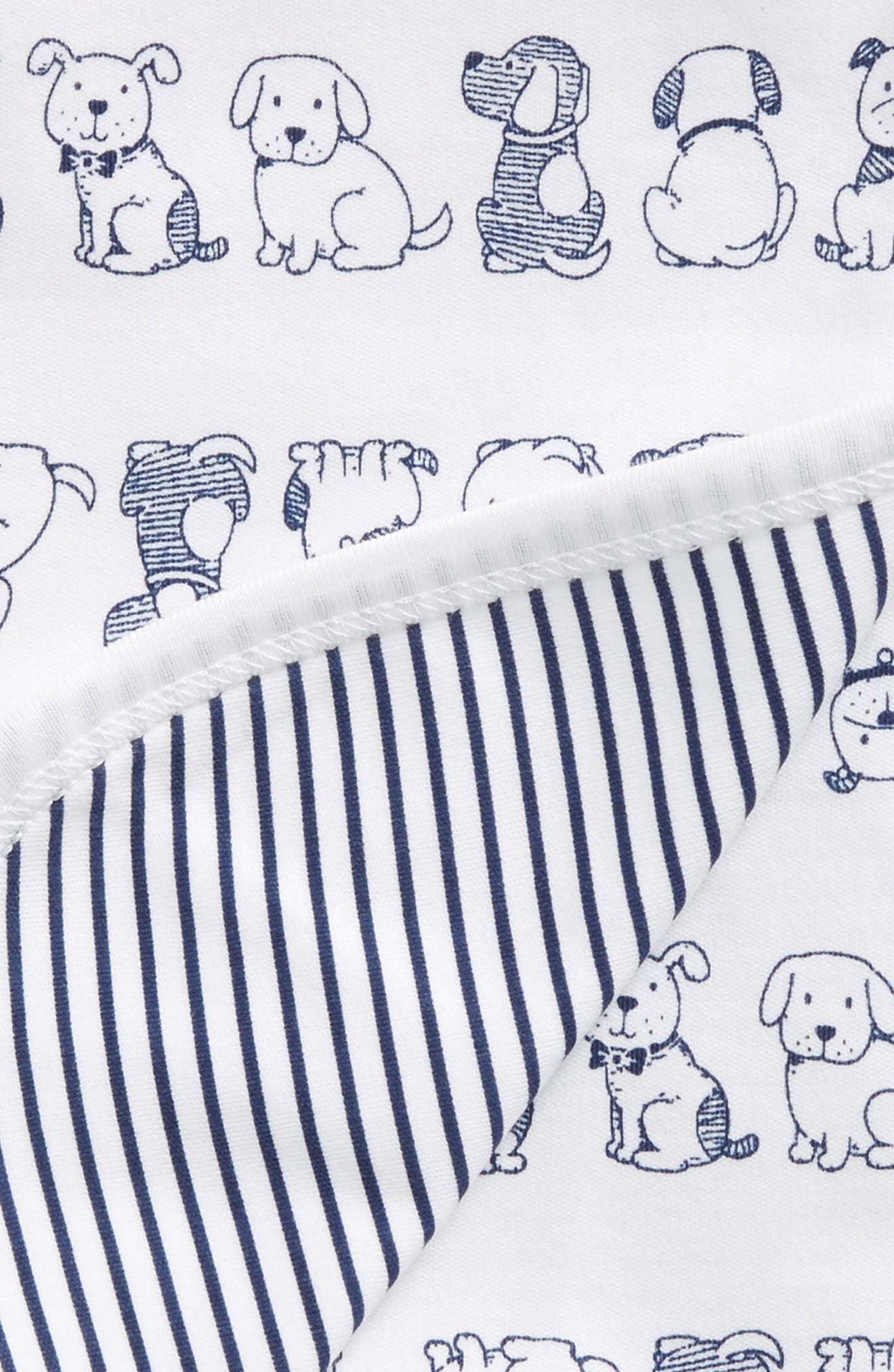 Puppy Receiving Blanket,                             Alternate thumbnail 2, color,                             White/Navy