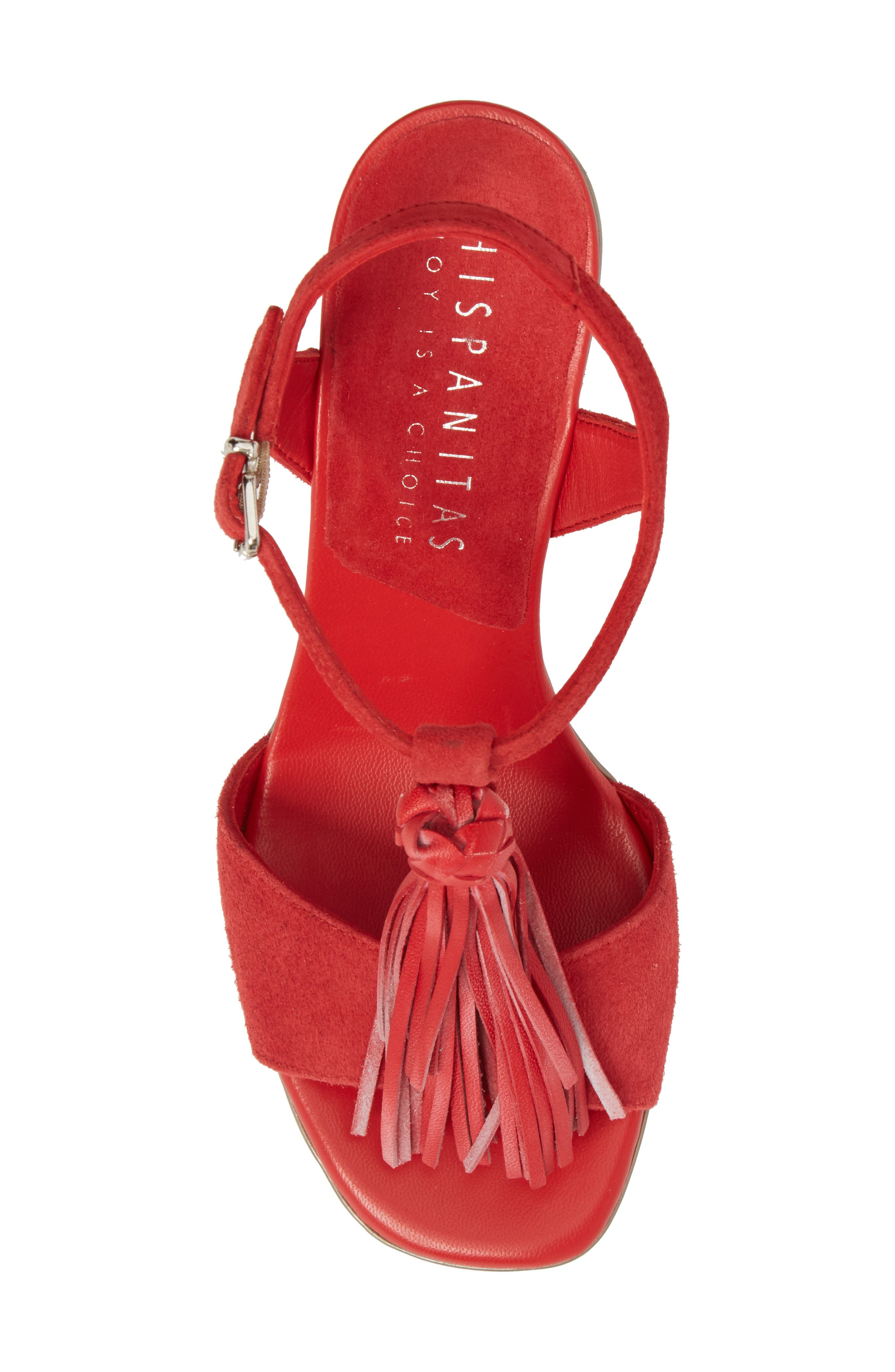 Schulyer T-Strap Sandal,                             Alternate thumbnail 5, color,                             Rubi Leather