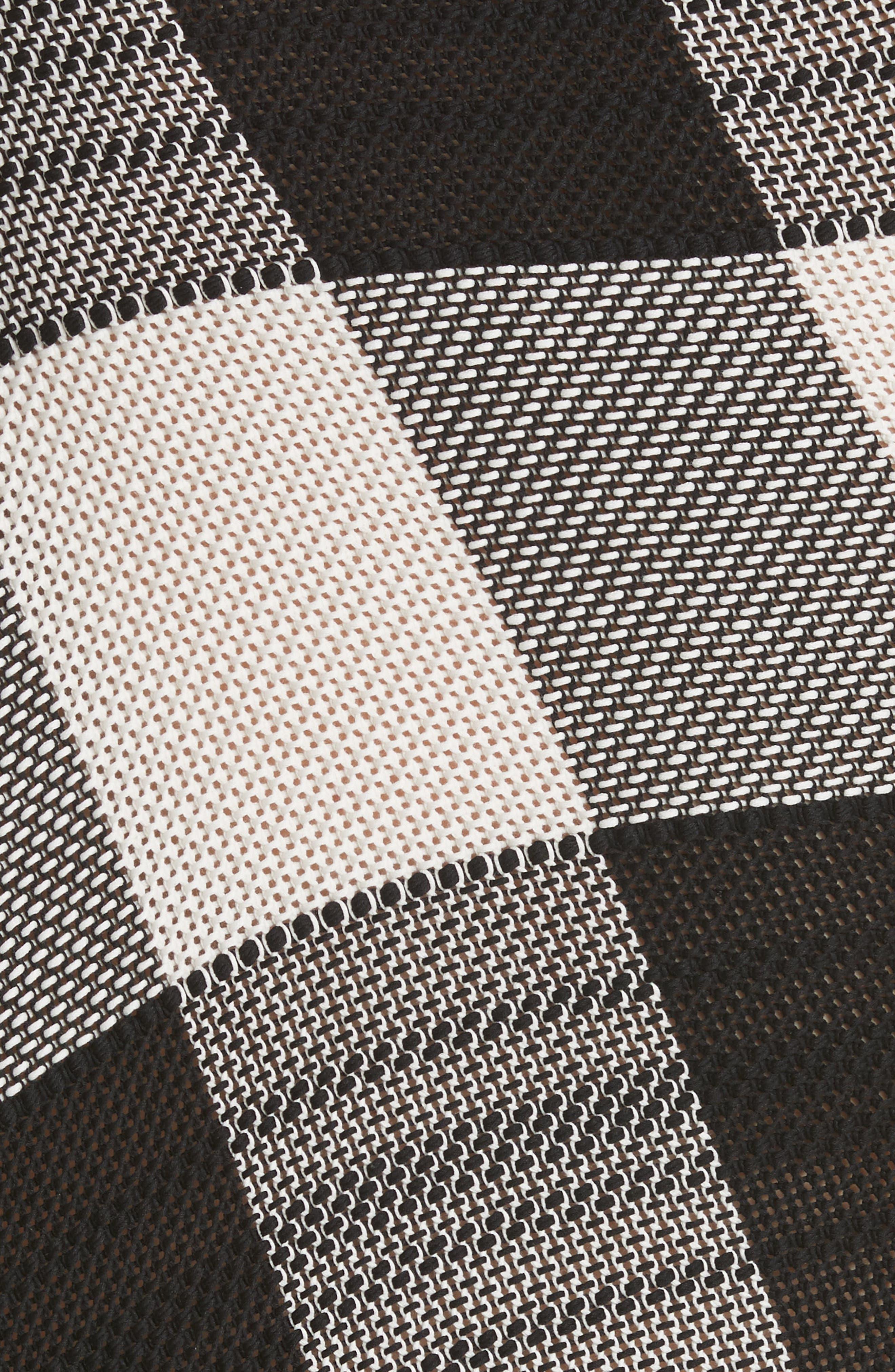 Marques'Almeida Asymmetrical Gingham Sheath Dress,                             Alternate thumbnail 6, color,                             Black/White