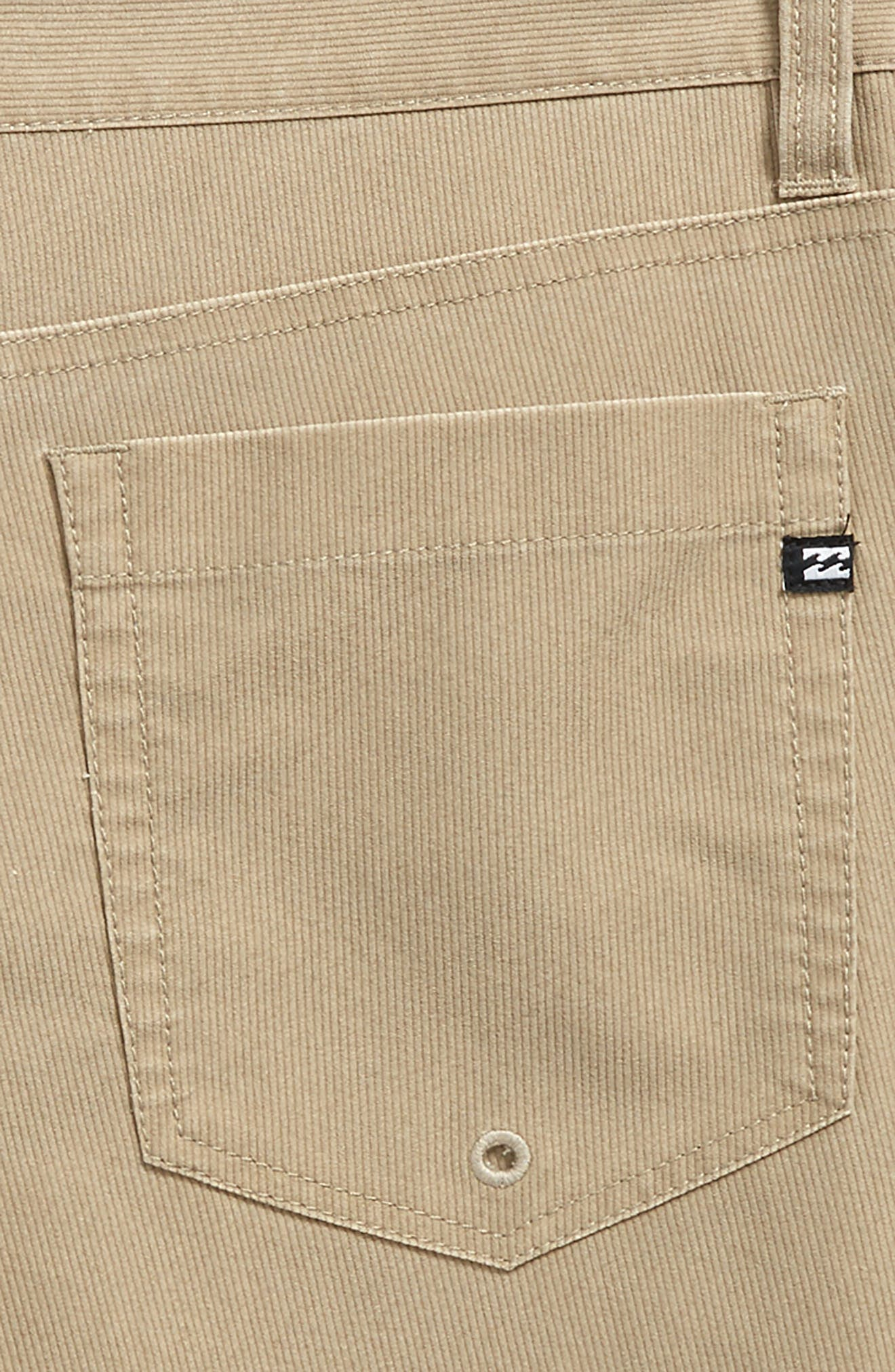 Outsider X Surf Corduroy Hybrid Shorts,                             Alternate thumbnail 3, color,                             Khaki