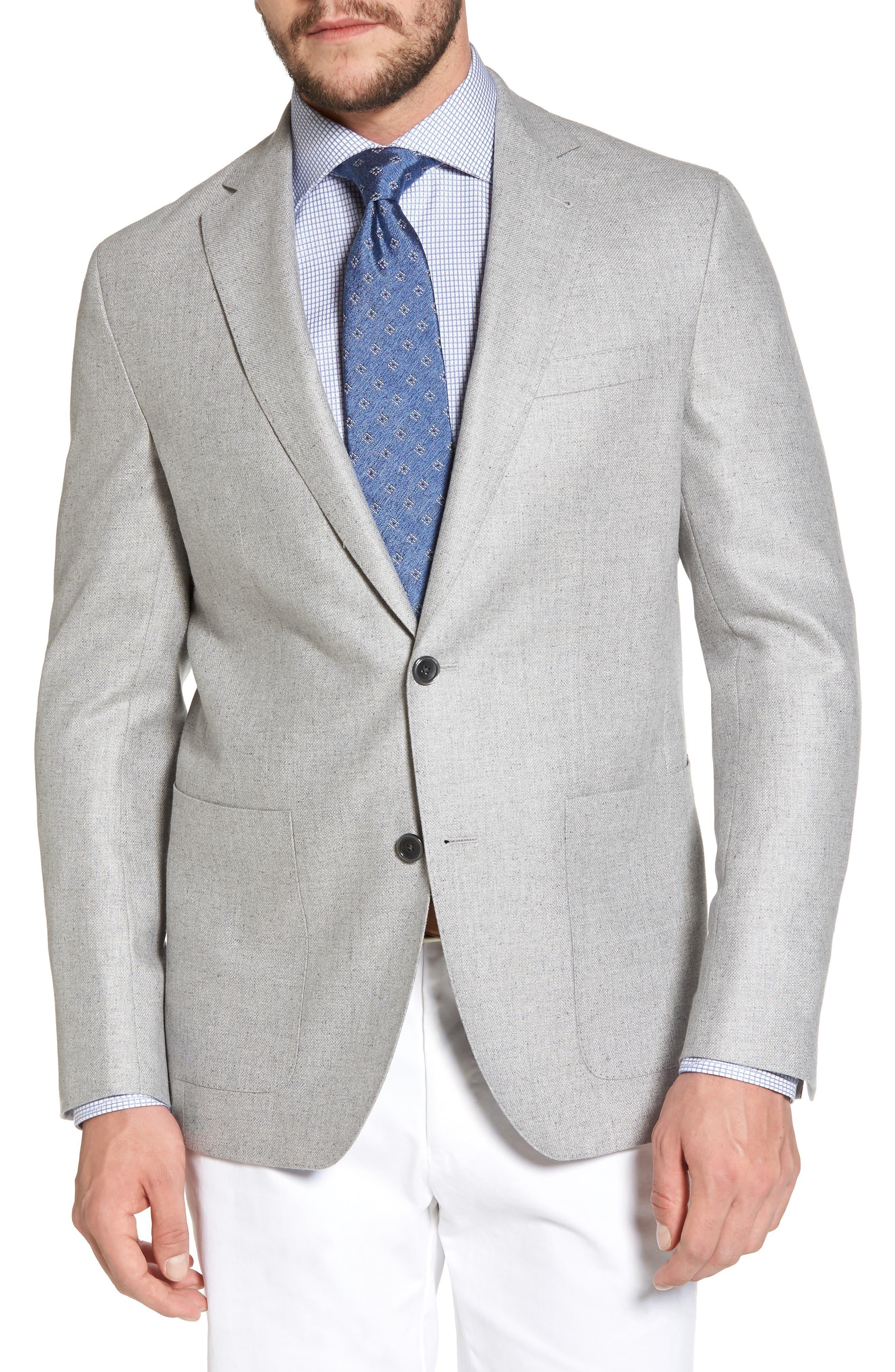 Arnold Classic Fit Wool & Silk Blazer,                         Main,                         color, Light Grey