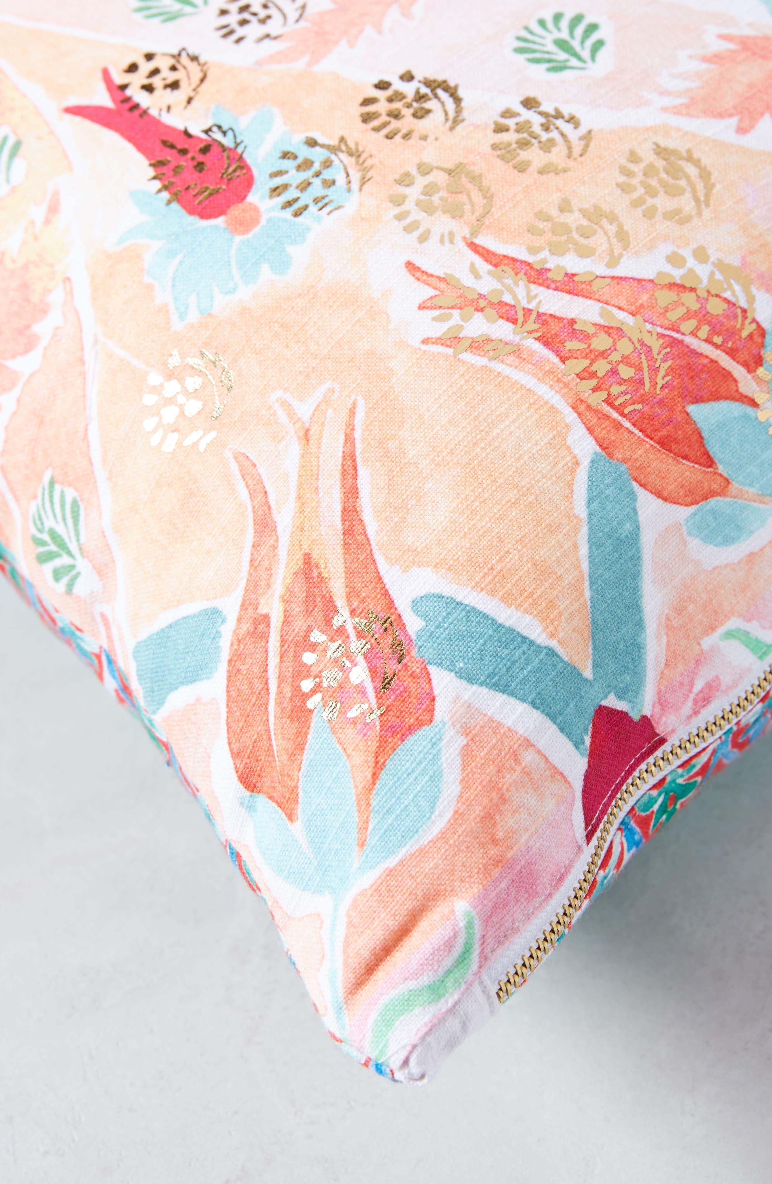 Tali Accent Pillow,                             Alternate thumbnail 3, color,                             Peach