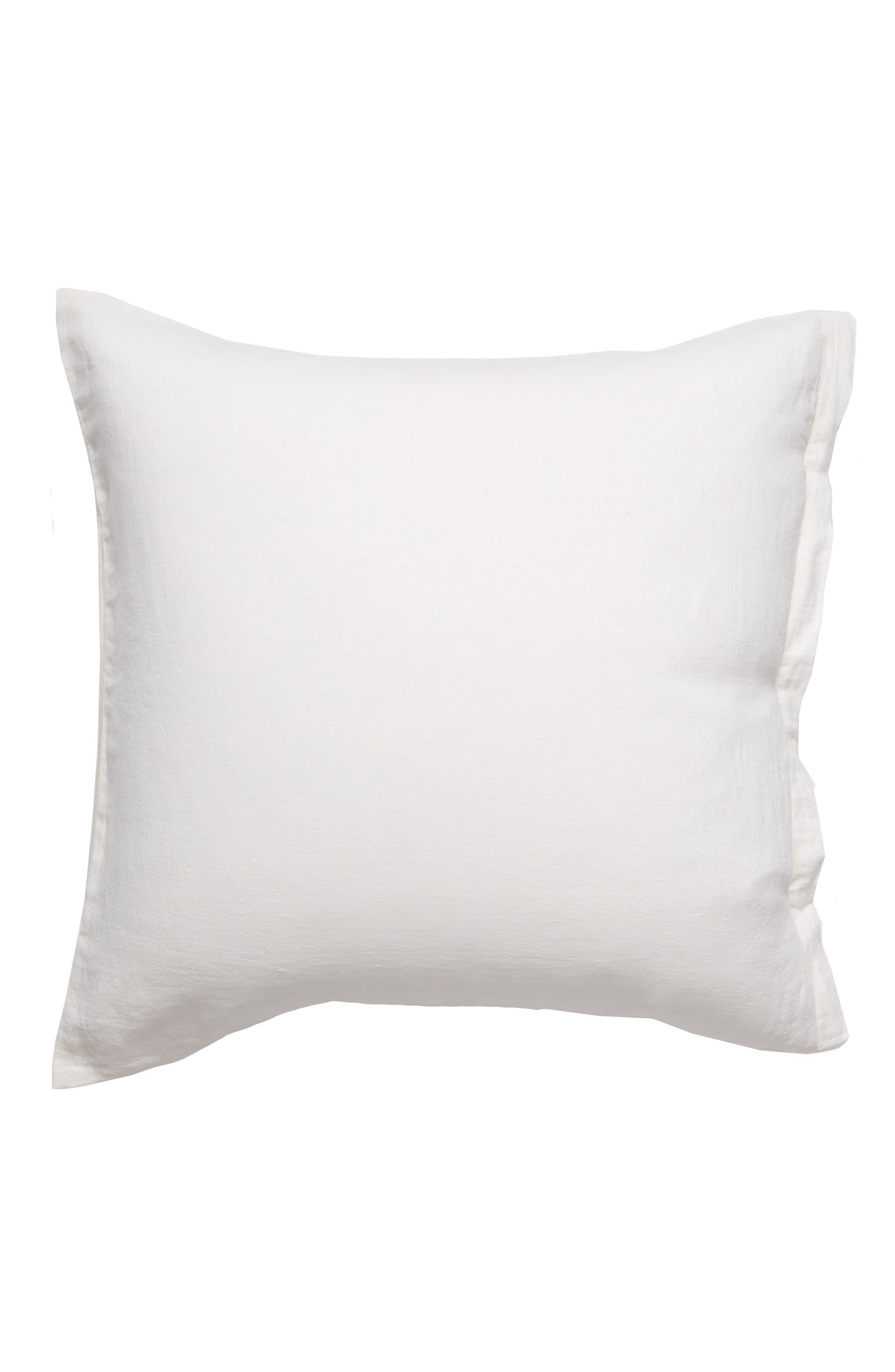 Relaxed Cotton & Linen Euro Sham,                             Main thumbnail 1, color,                             Ivory