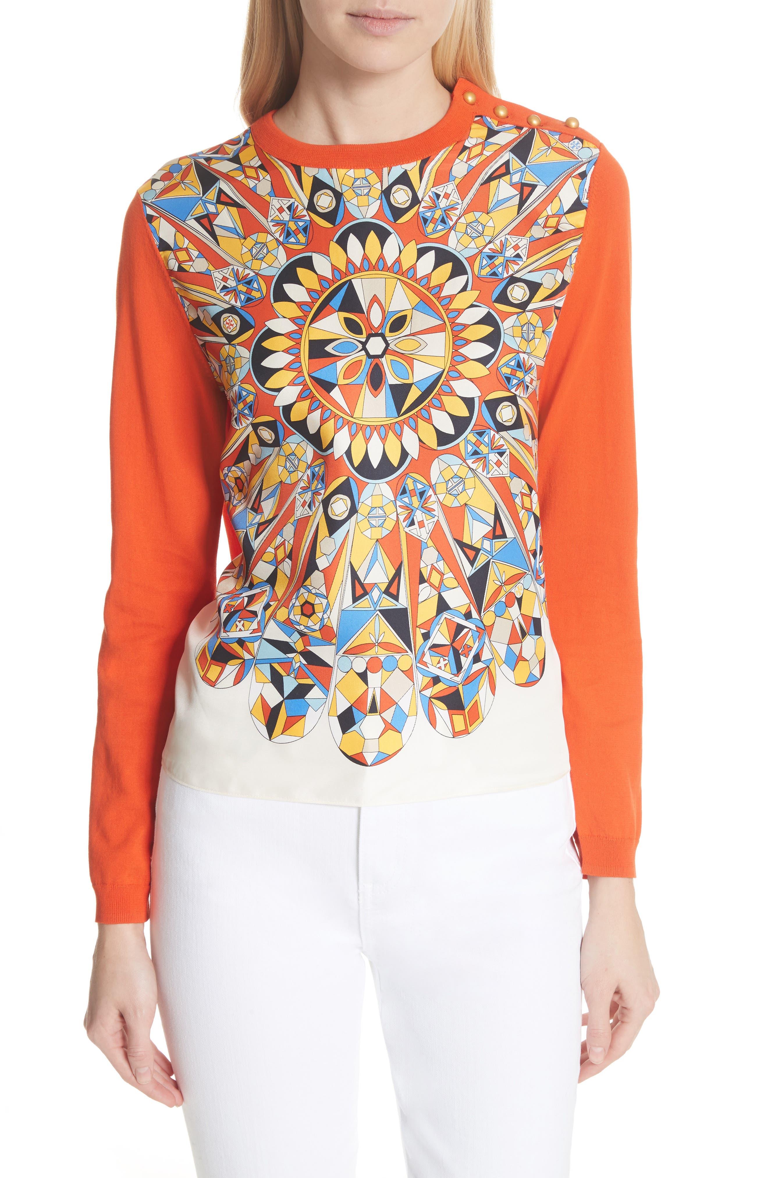 Alyssa Sweater,                         Main,                         color, Sweet Tangerine