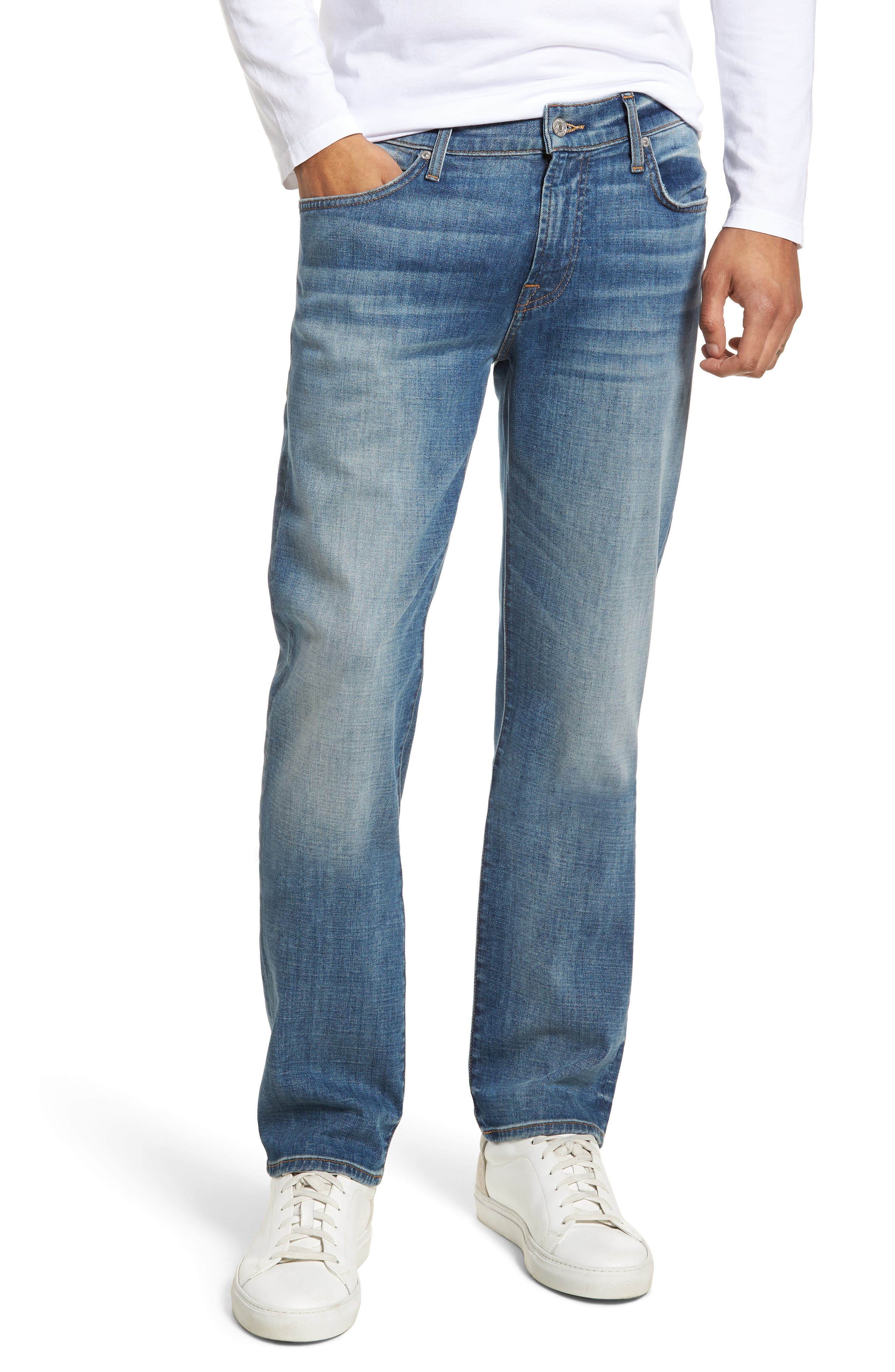 7 For All Mankind Slimmy Slim Fit Jeans,                             Main thumbnail 1, color,                             Desert Warrior