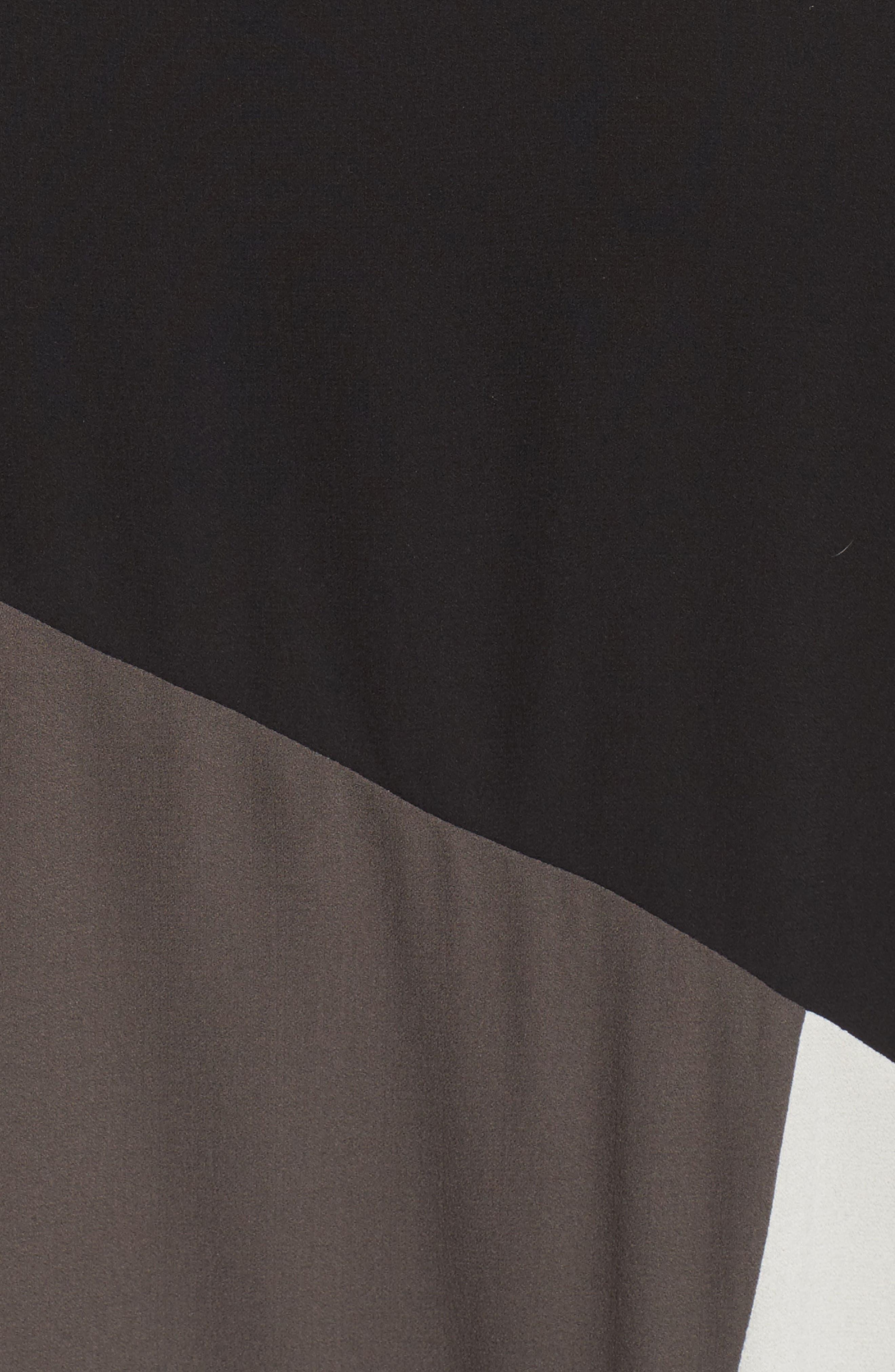 Colorblock Silk Top,                             Alternate thumbnail 5, color,                             Black