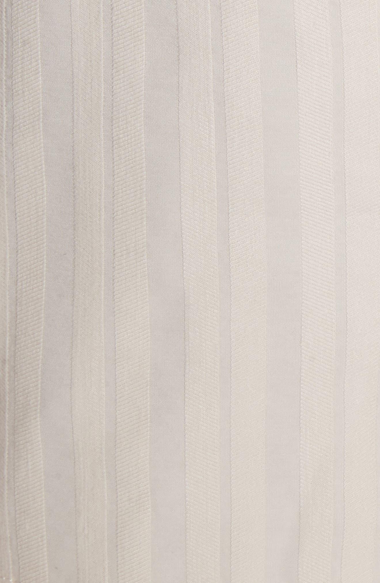 Textured Stripe Shorts,                             Alternate thumbnail 5, color,                             Creme Brulee