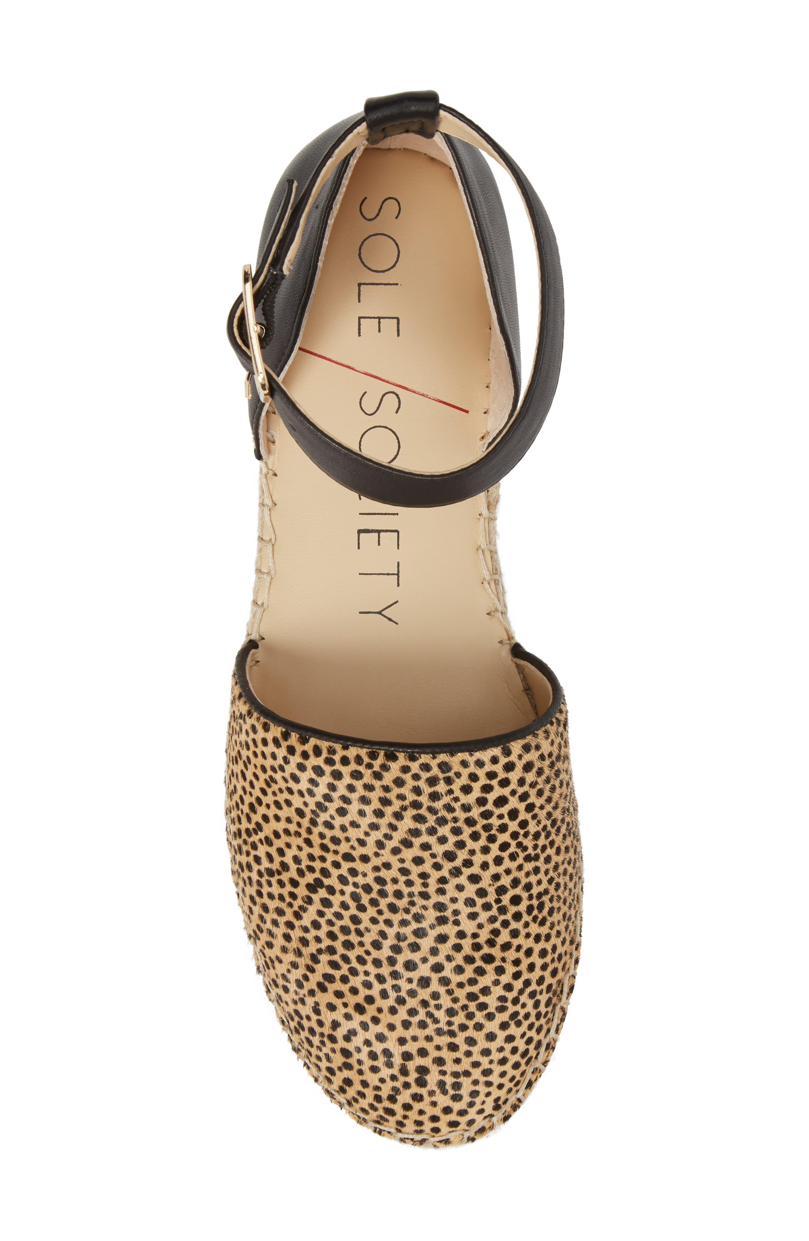 Stacie Genuine Calf Hair Espadrille Sandal,                             Alternate thumbnail 5, color,                             Dotted Haircalf
