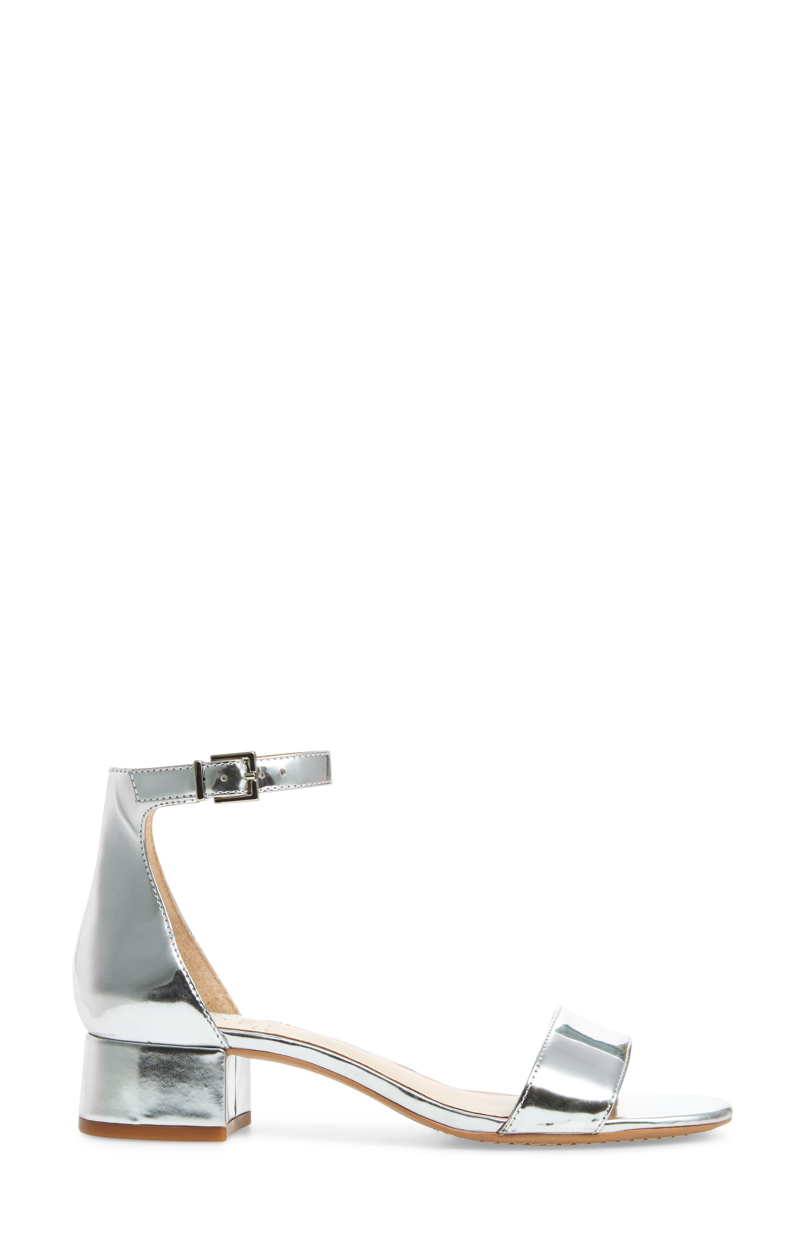 Sasseta Sandal,                             Alternate thumbnail 3, color,                             Bright Silver
