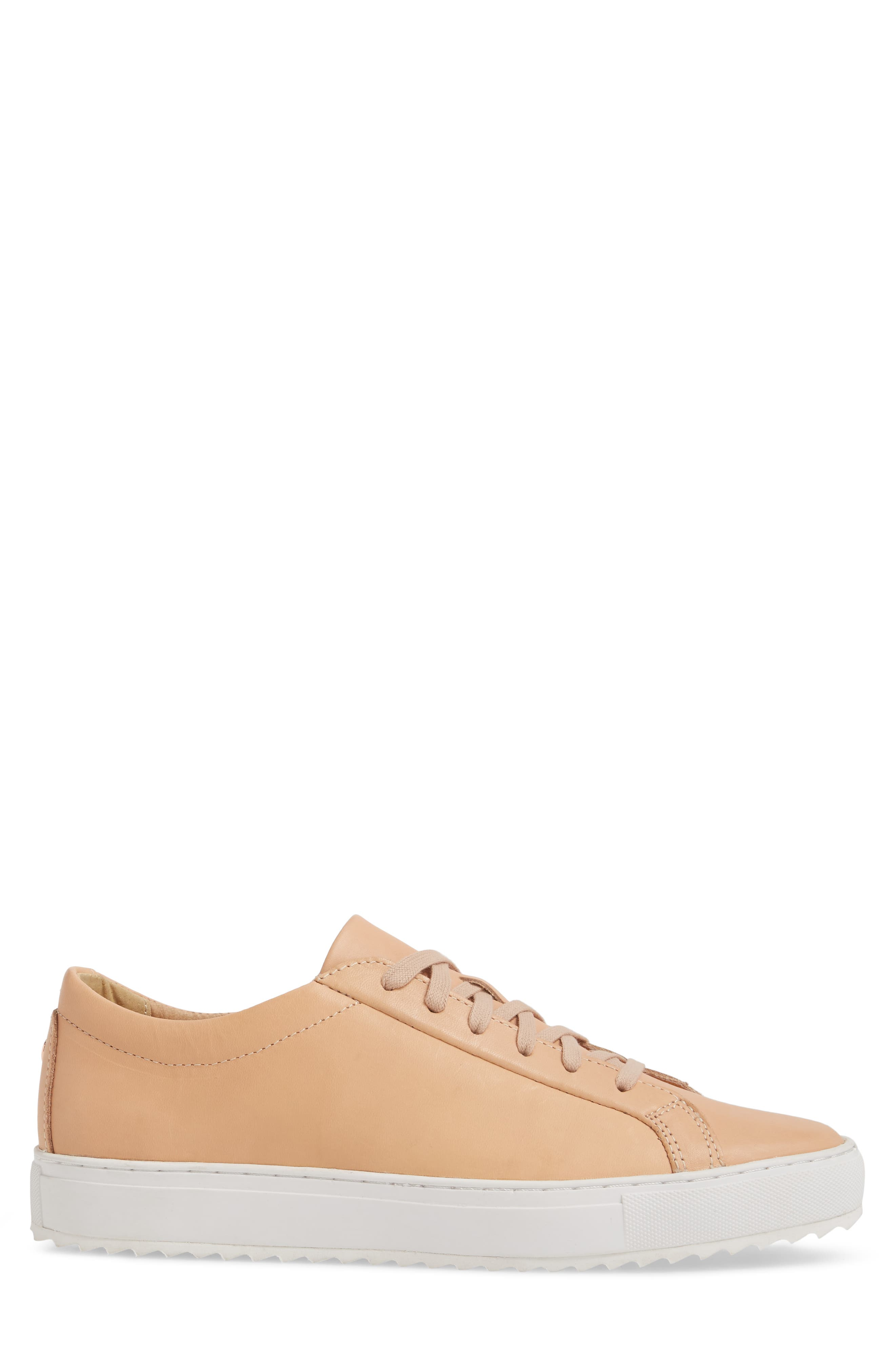 Kennedy Lugged Sneaker,                             Alternate thumbnail 3, color,                             Natural Leather