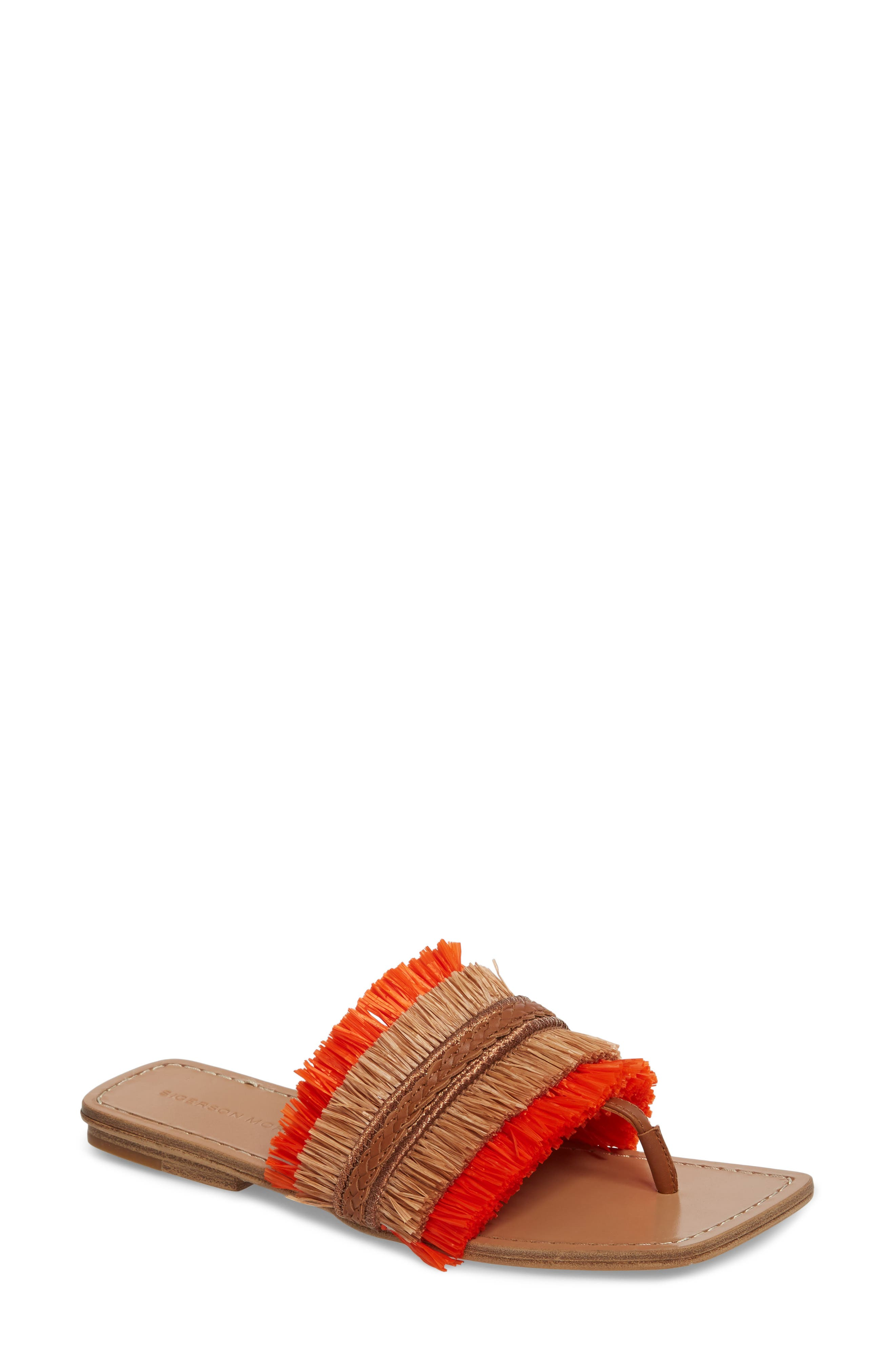 Woven Sandal,                             Main thumbnail 1, color,                             Tan/ Orange