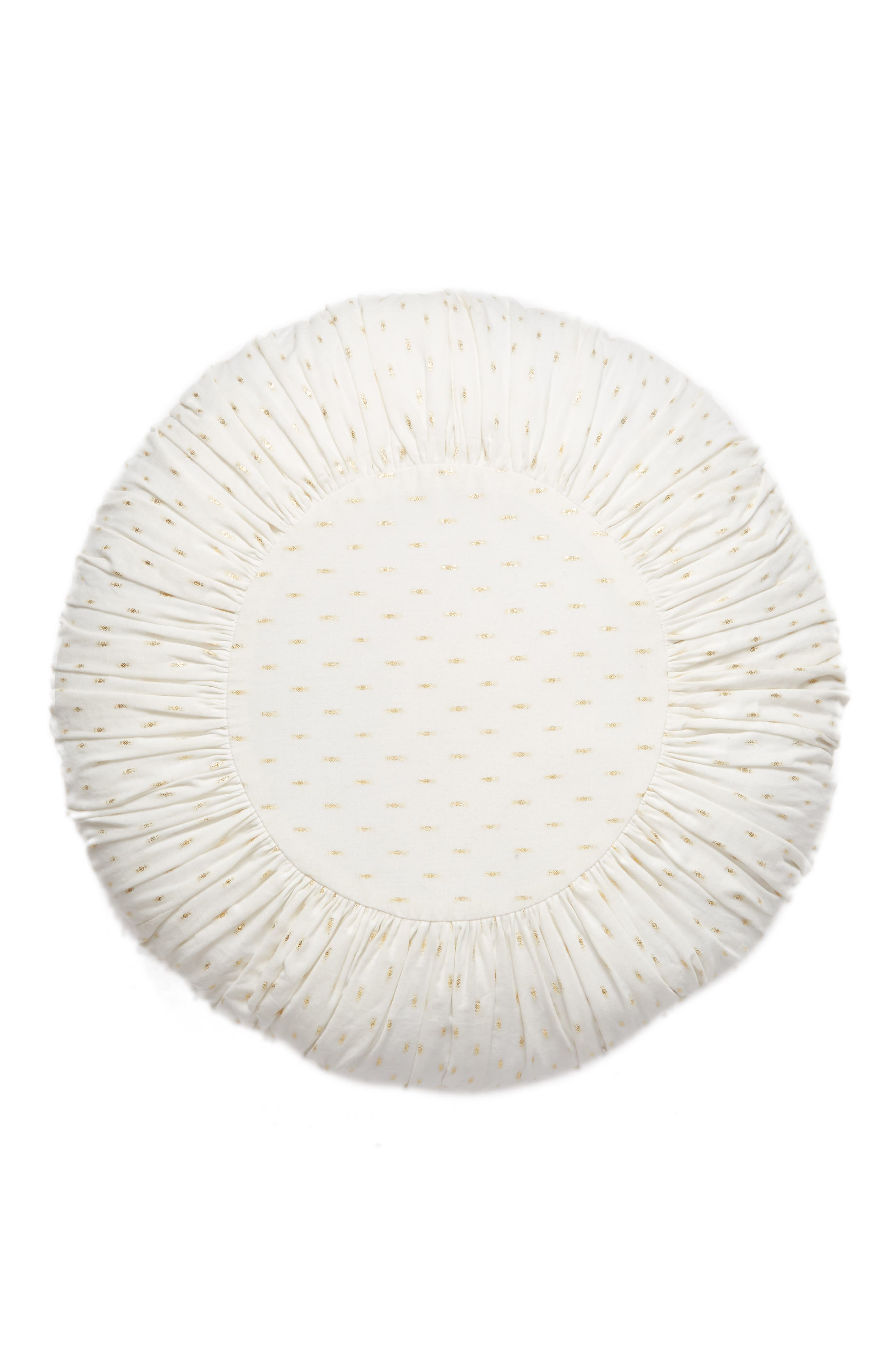 Palace Accent Pillow,                         Main,                         color, Ivory
