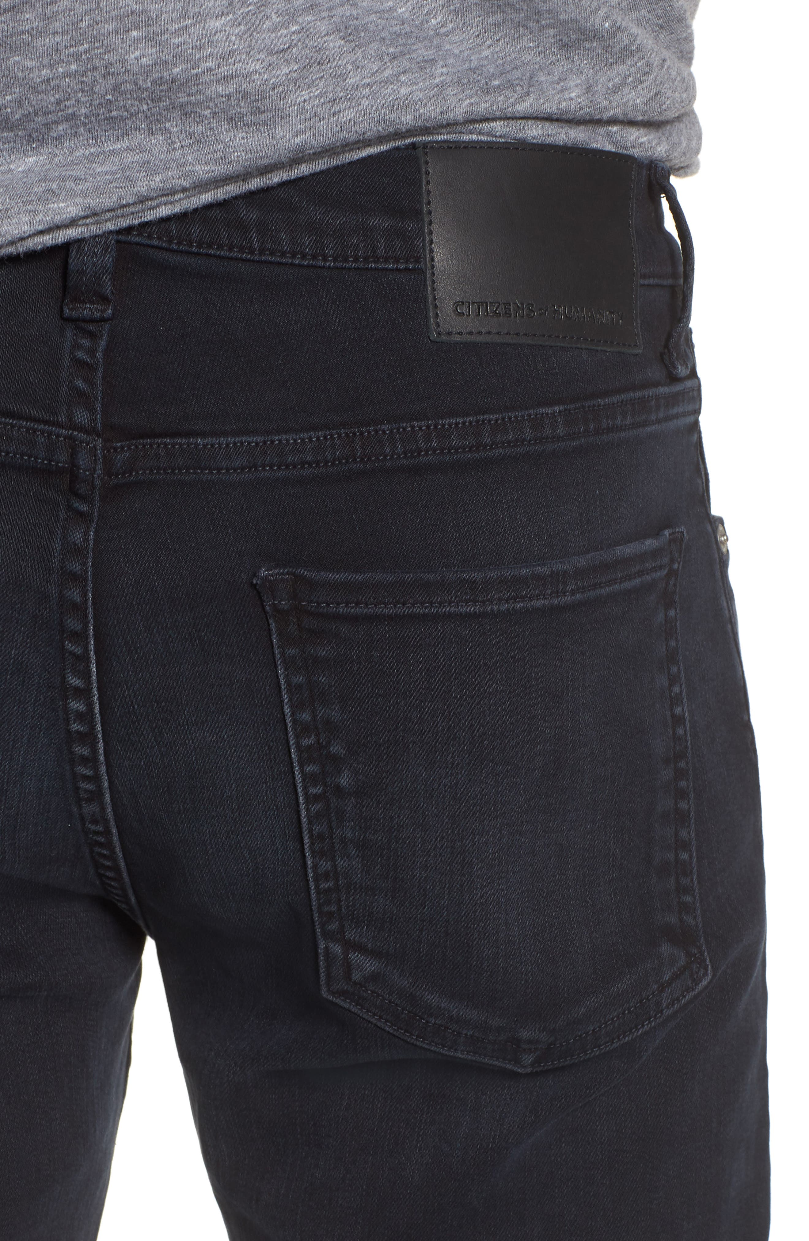 Bowery Slim Fit Jeans,                             Alternate thumbnail 4, color,                             Ink