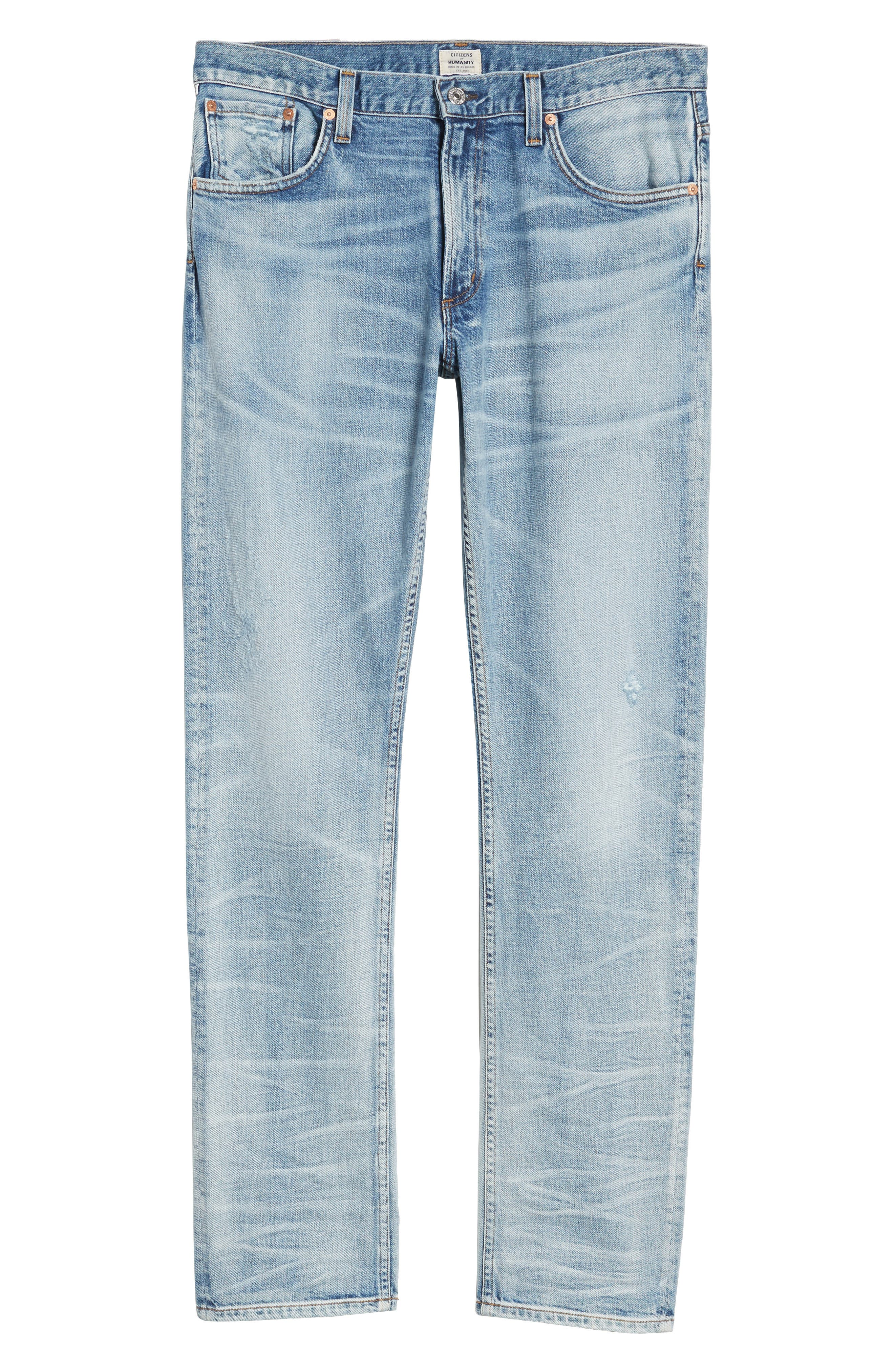 Bowery Slim Fit Jeans,                             Alternate thumbnail 6, color,                             Lone Pine