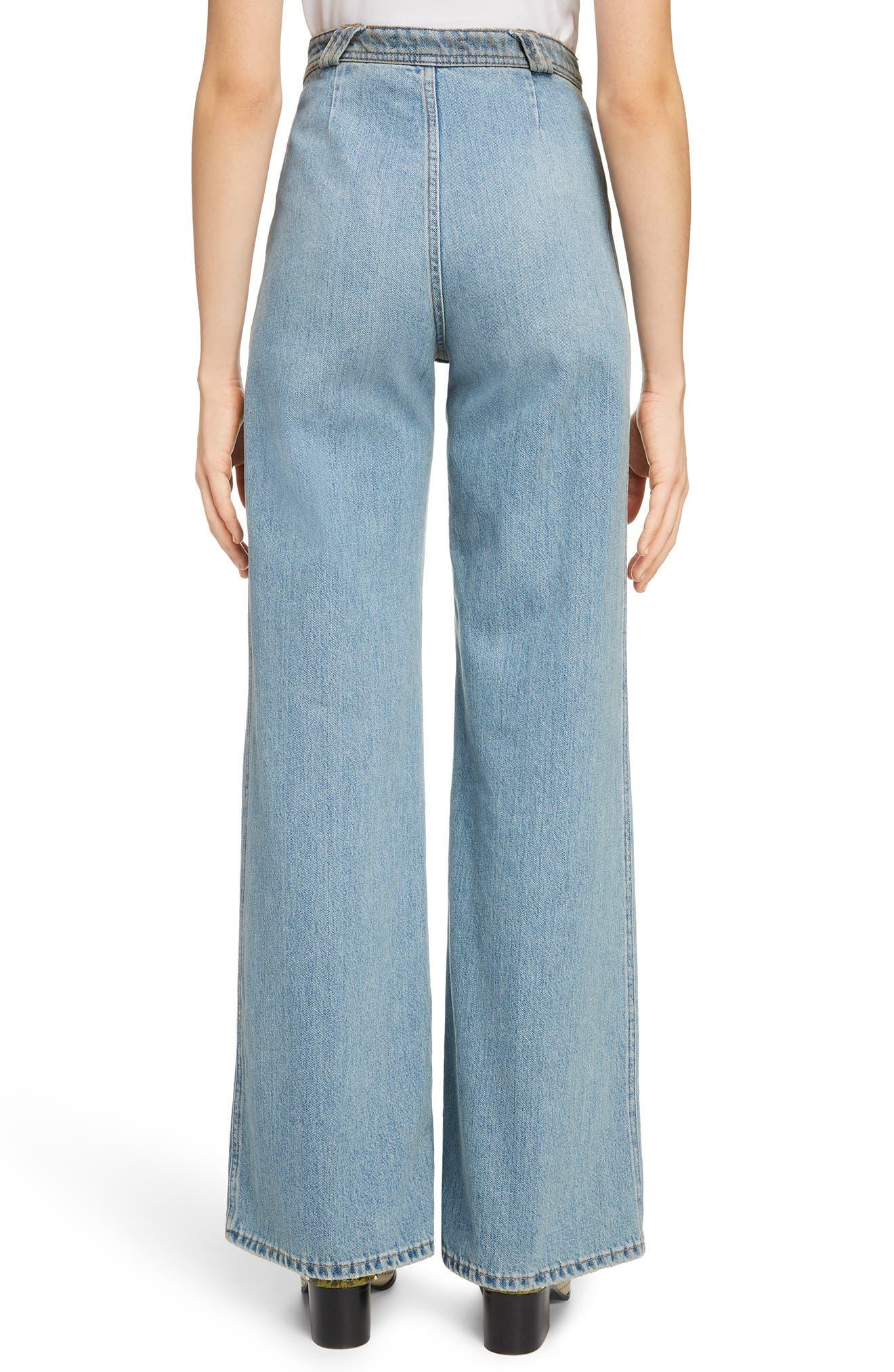 Tiffan Wide Leg Jeans,                             Alternate thumbnail 3, color,                             Blue Vintage
