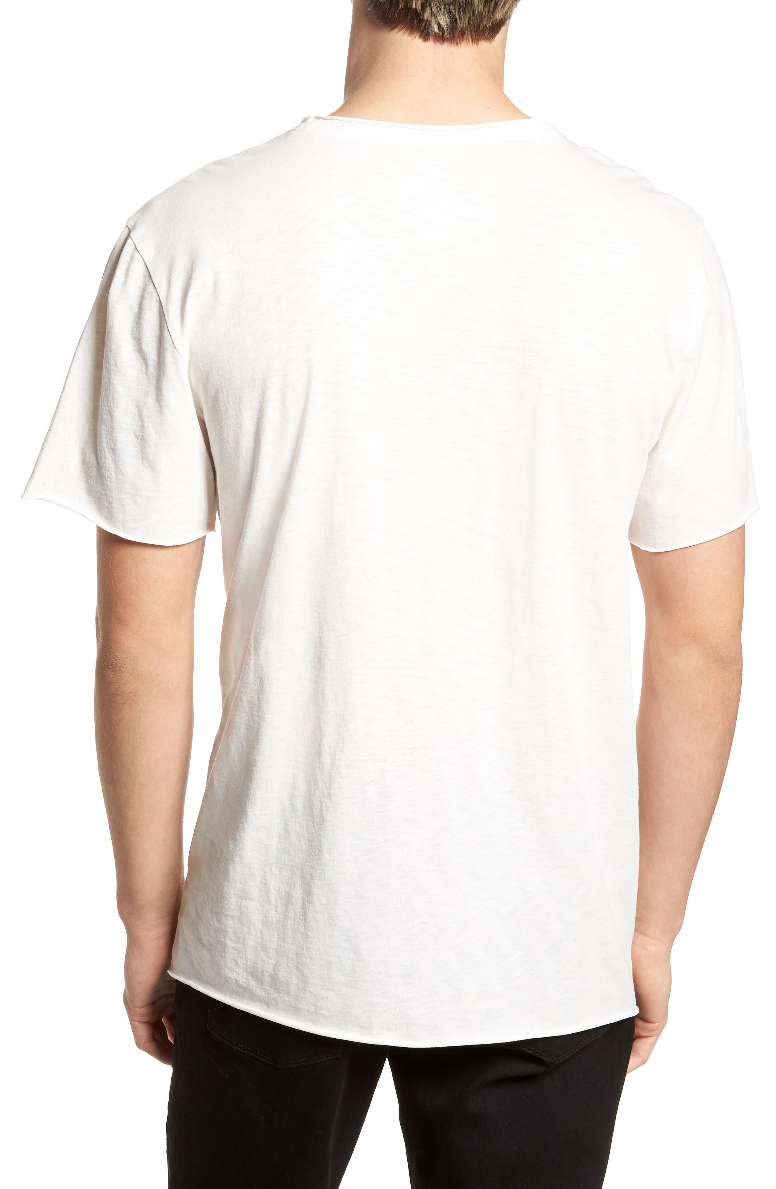 David Bowie Crewneck T-Shirt,                             Alternate thumbnail 2, color,                             Ivory David Bowie