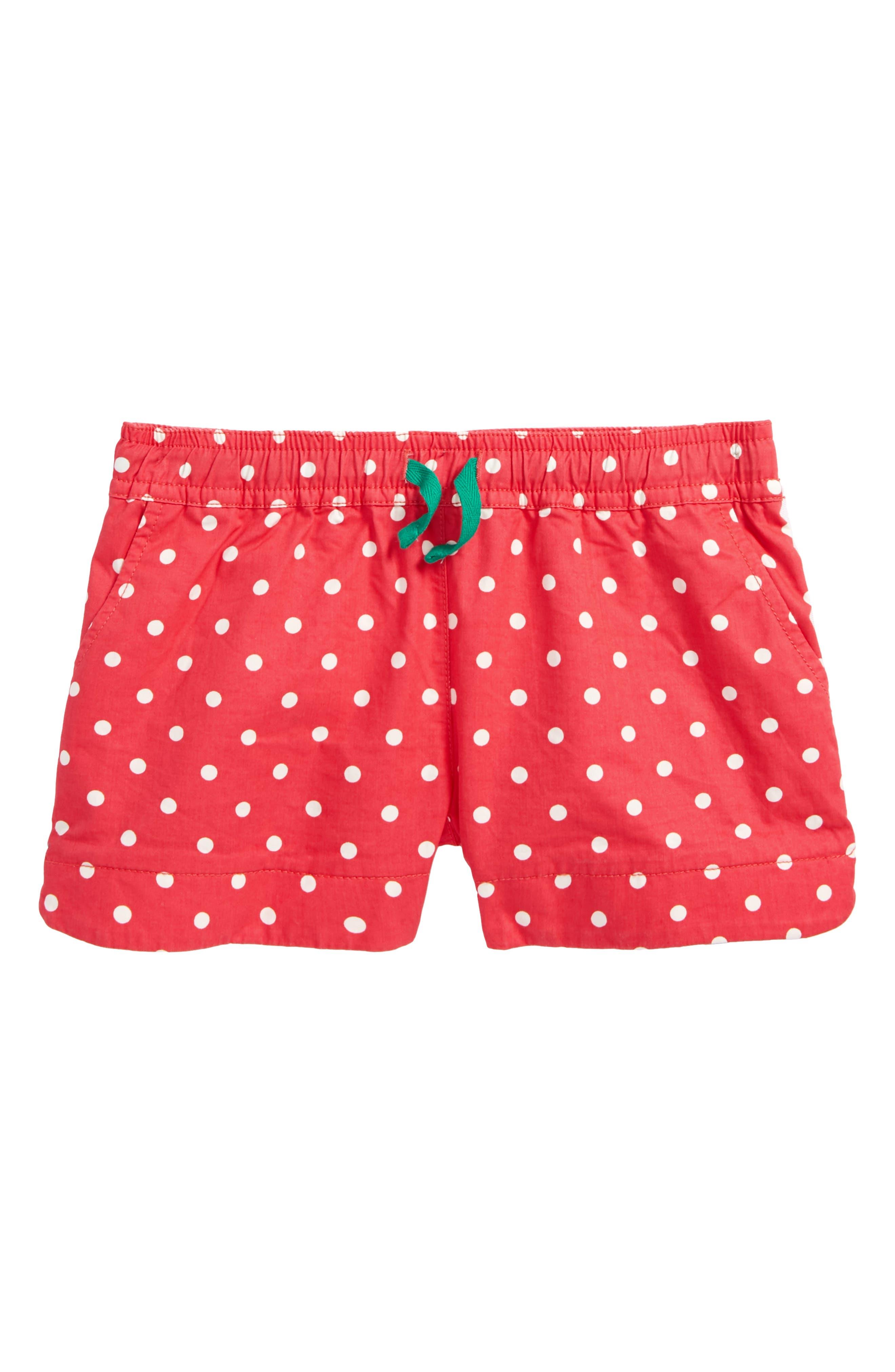 Heart Pocket Shorts,                         Main,                         color, Strawberry Split Pink Spot