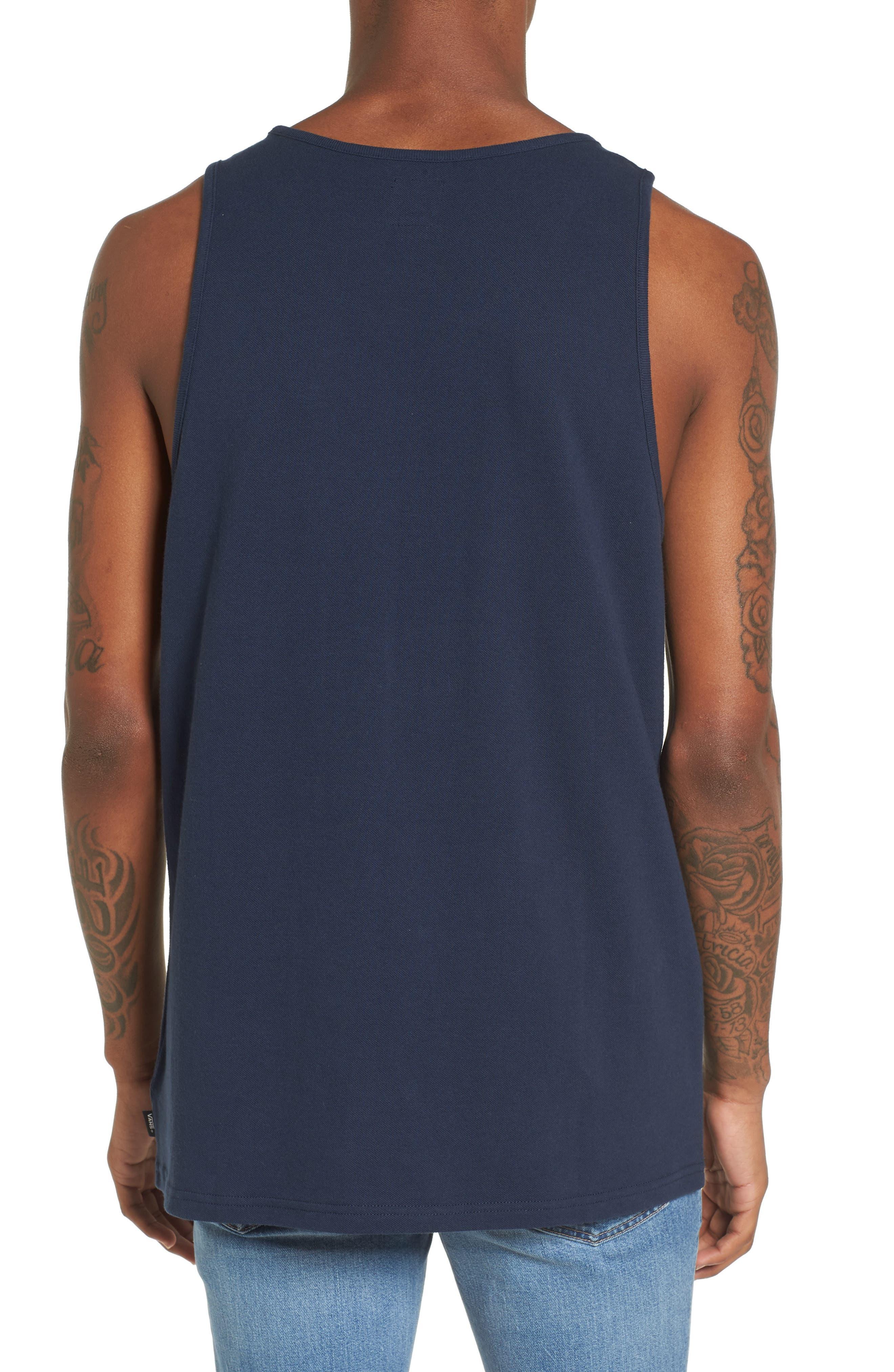 Salton Embroidered Piqué Tank,                             Alternate thumbnail 2, color,                             Dress Blues