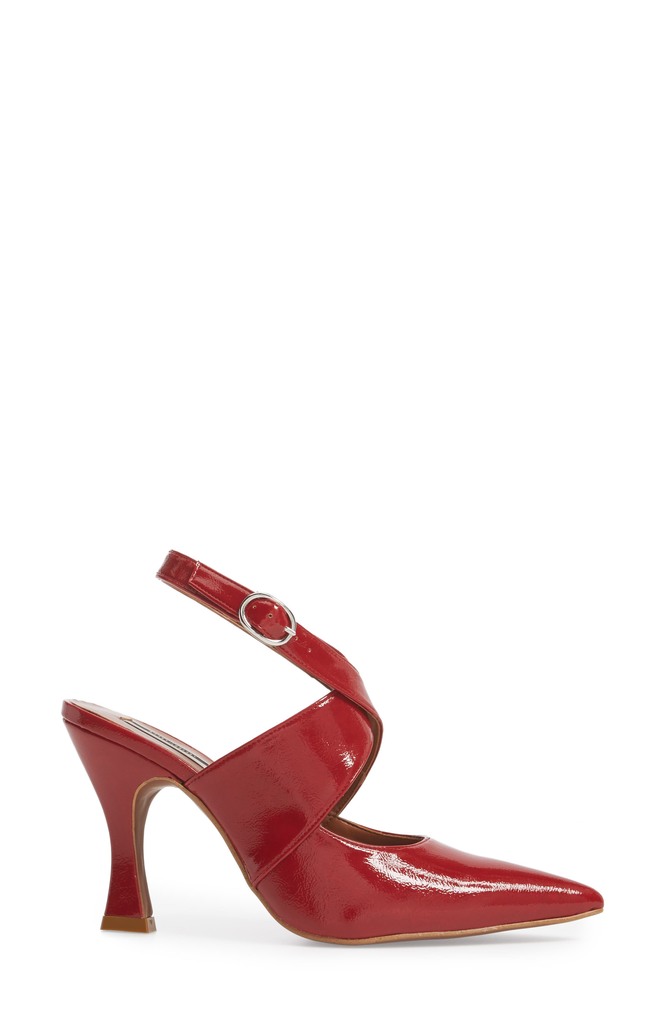 Galactic Pointy Toe Pump,                             Alternate thumbnail 3, color,                             Red