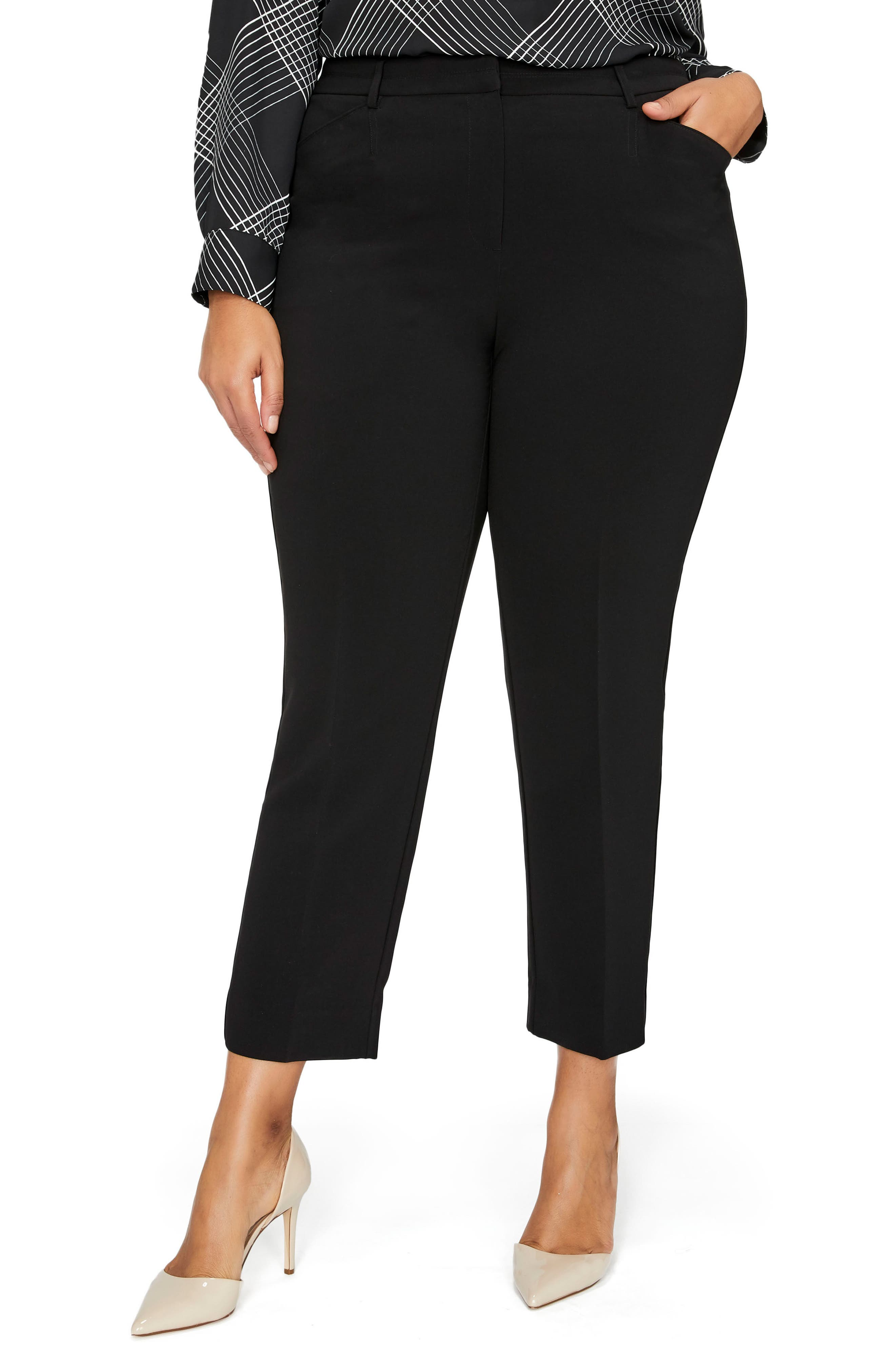 High Waist Ankle Pants,                         Main,                         color, Black