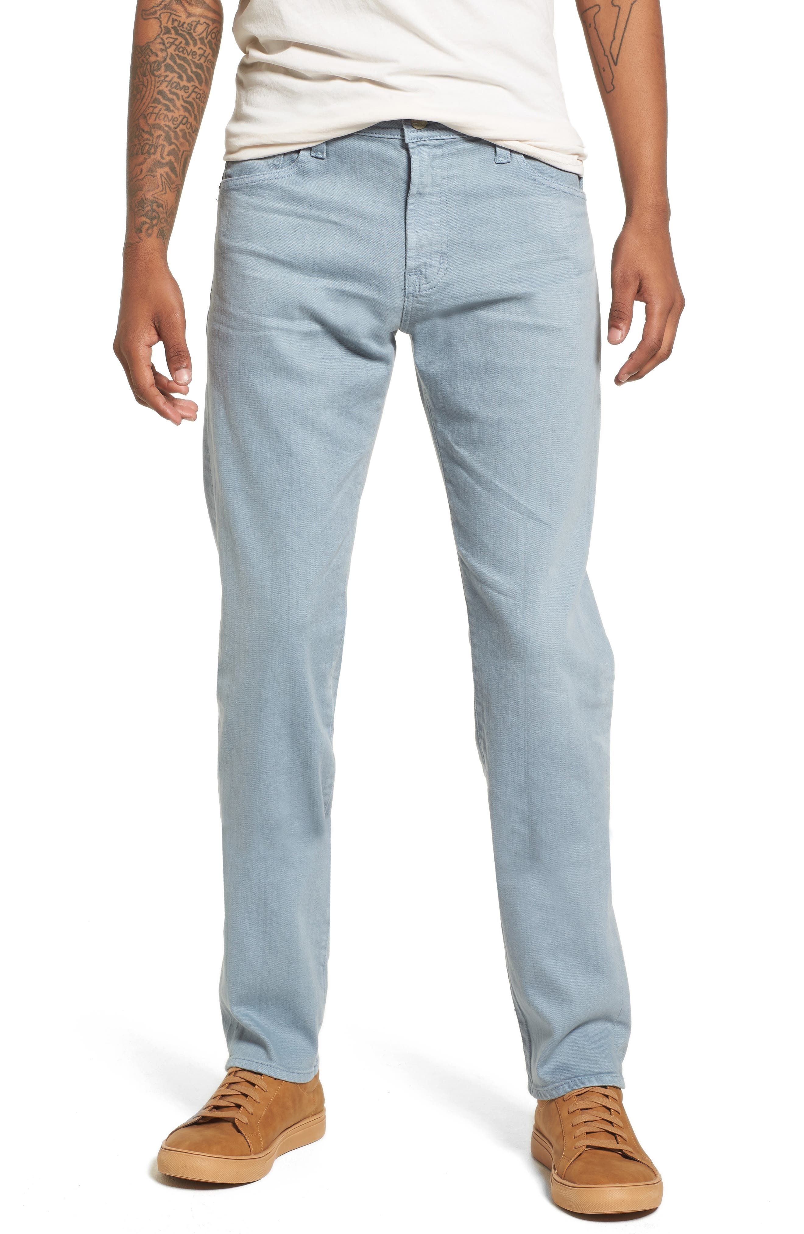 Main Image - AG Tellis Slim Fit Jeans (7 Years Ocean Mist)