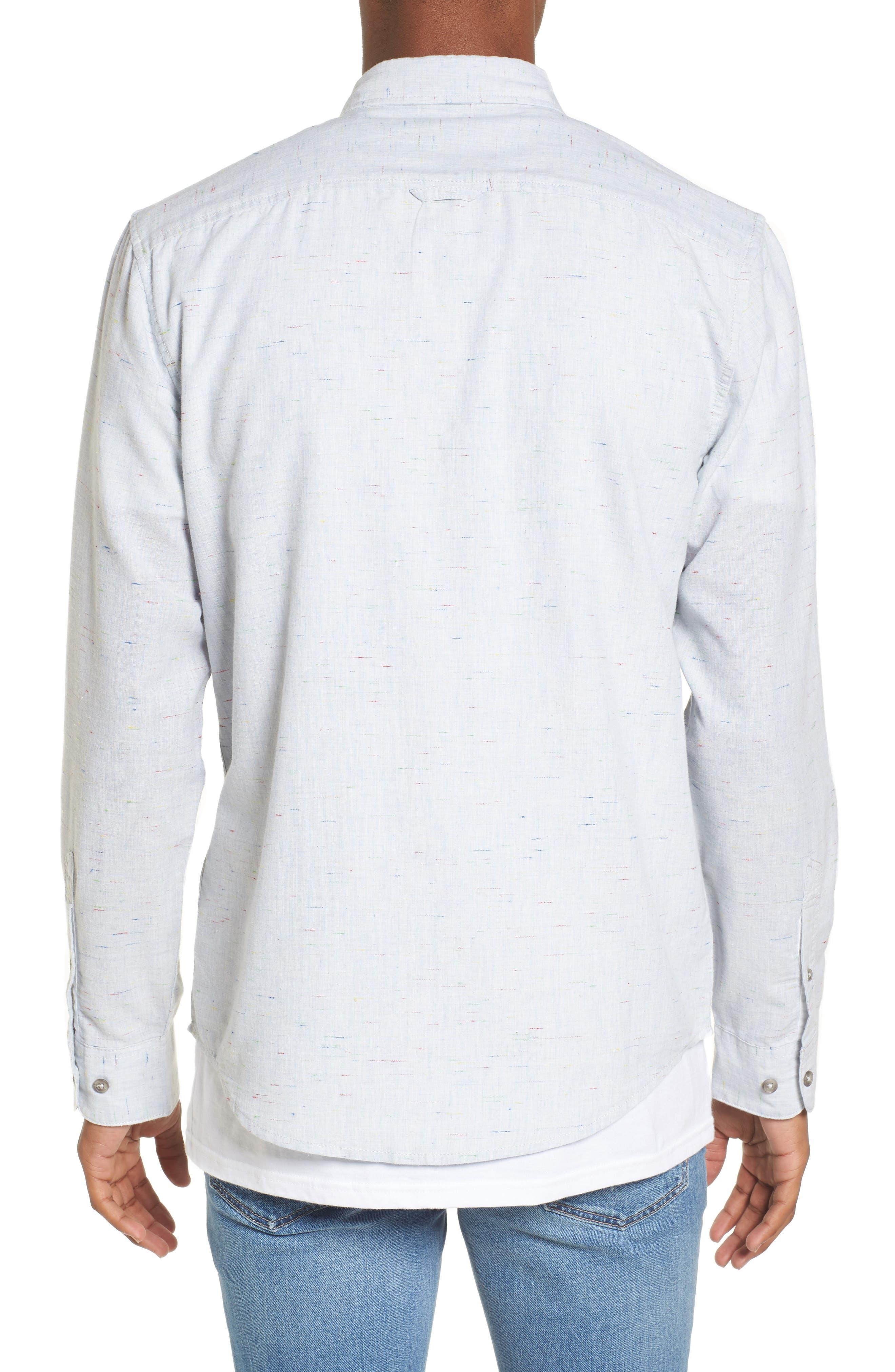 Long Sleeve Color Nep Shirt,                             Alternate thumbnail 2, color,                             Blue Chambray Multi Nep