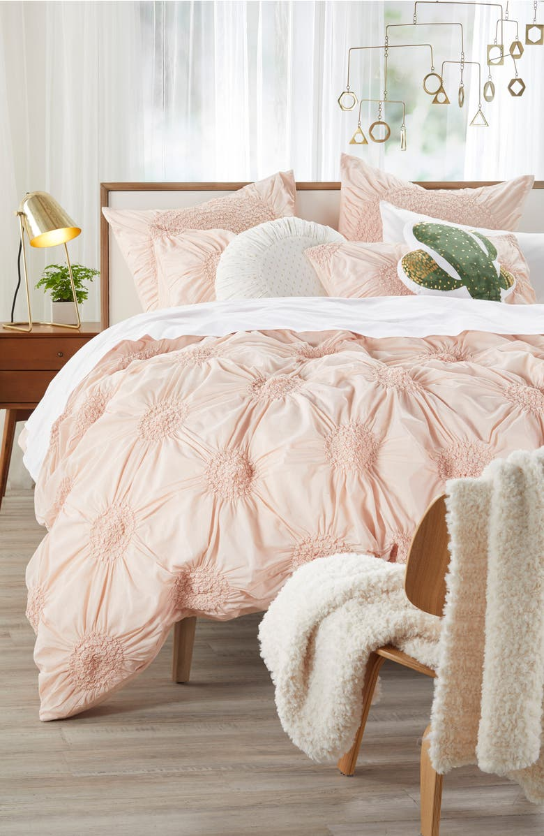 'Chloe' Duvet Cover,                         Main,                         color, Pink Hero