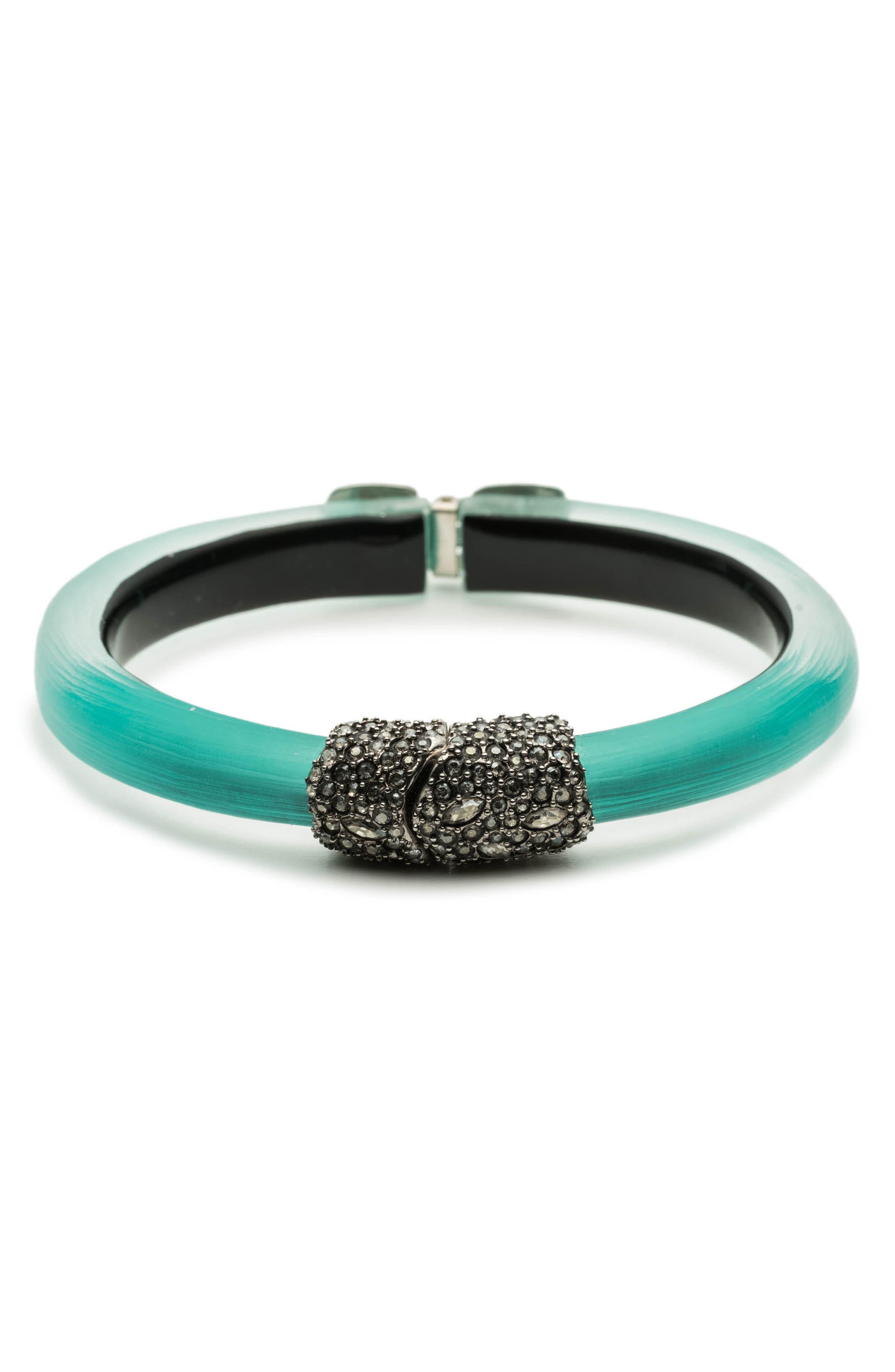 Skinny Hinge Bracelet,                             Main thumbnail 1, color,                             Mint Green