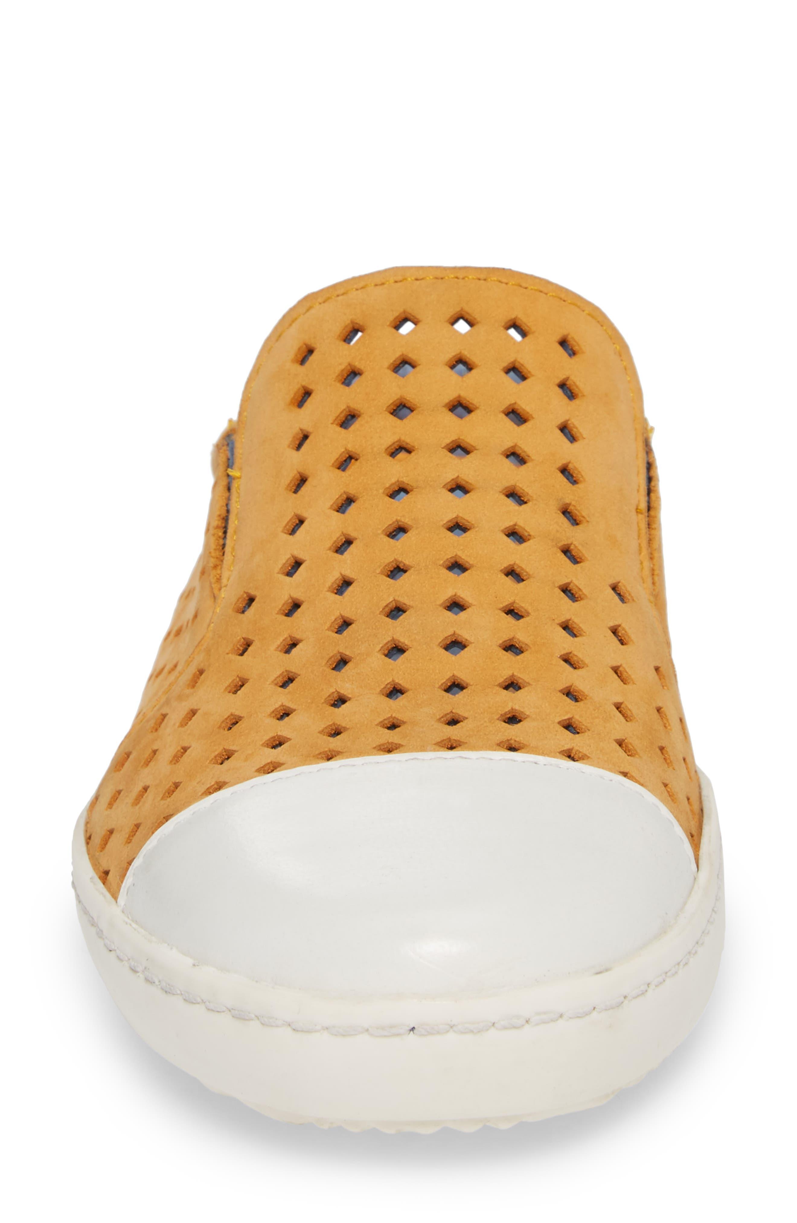 Tippy Slip-On Sneaker,                             Alternate thumbnail 4, color,                             Saffon Suede
