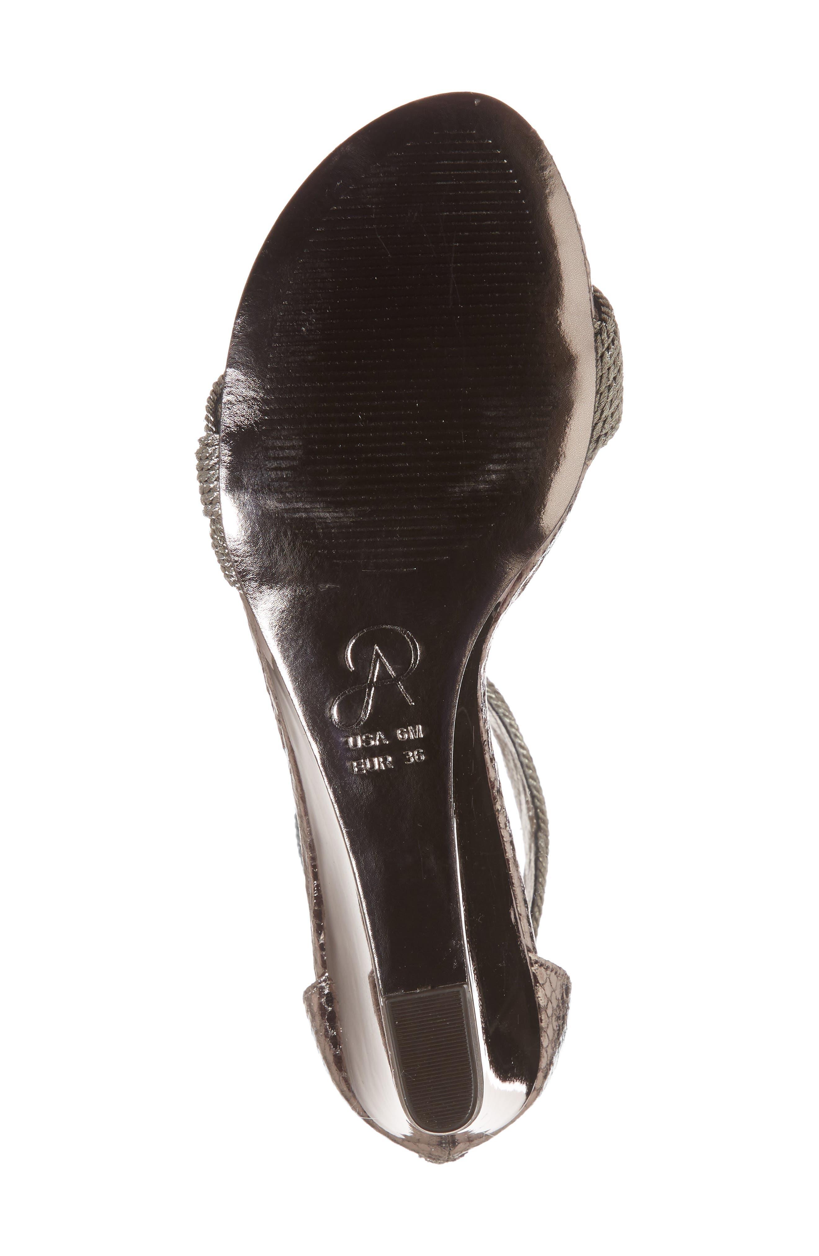 Adore Ankle Strap Sandal,                             Alternate thumbnail 6, color,                             Gunmetal Fabric