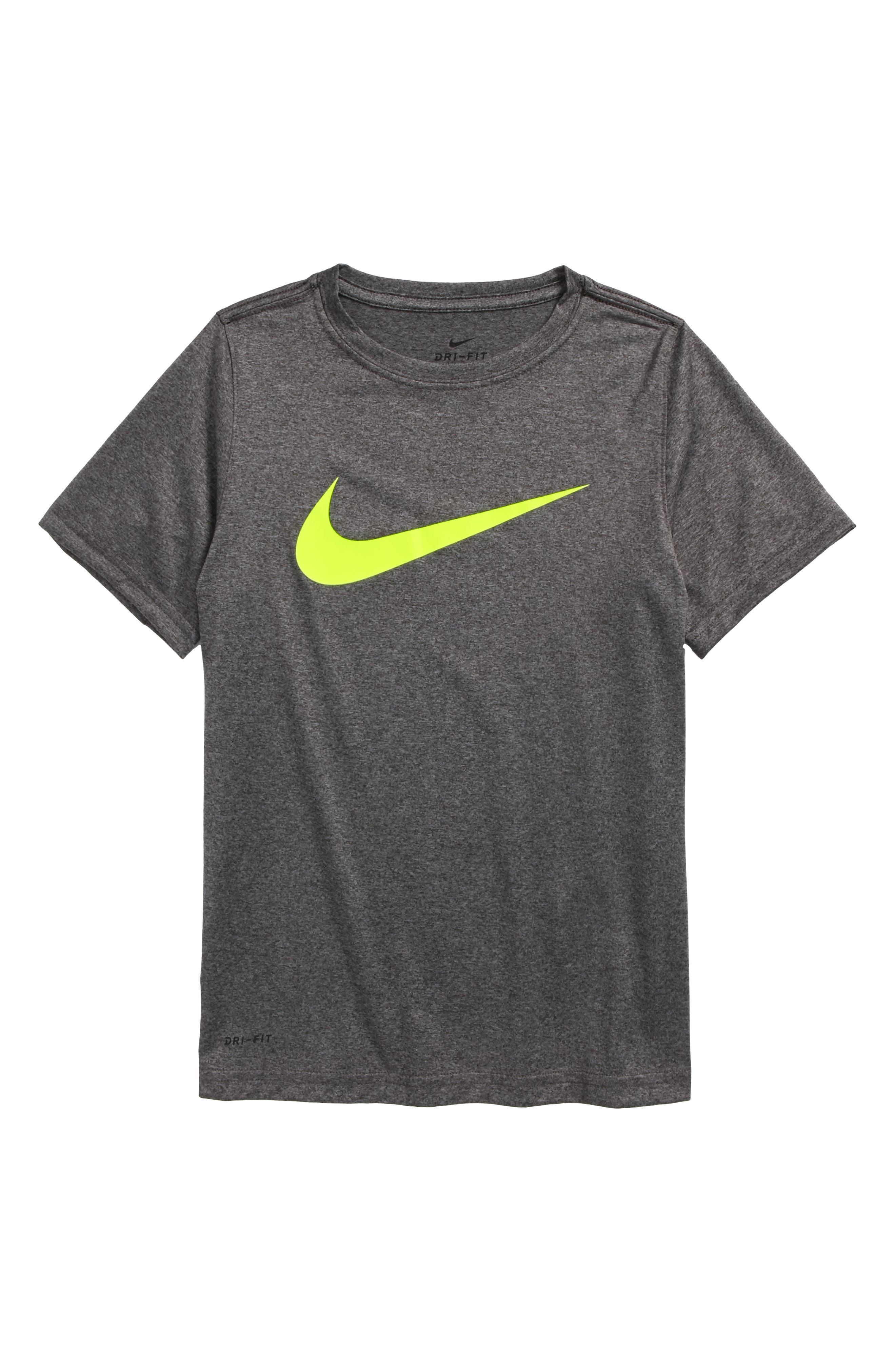 Alternate Image 1 Selected - Nike Dry Swoosh T-Shirt (Little Boys & Big Boys)